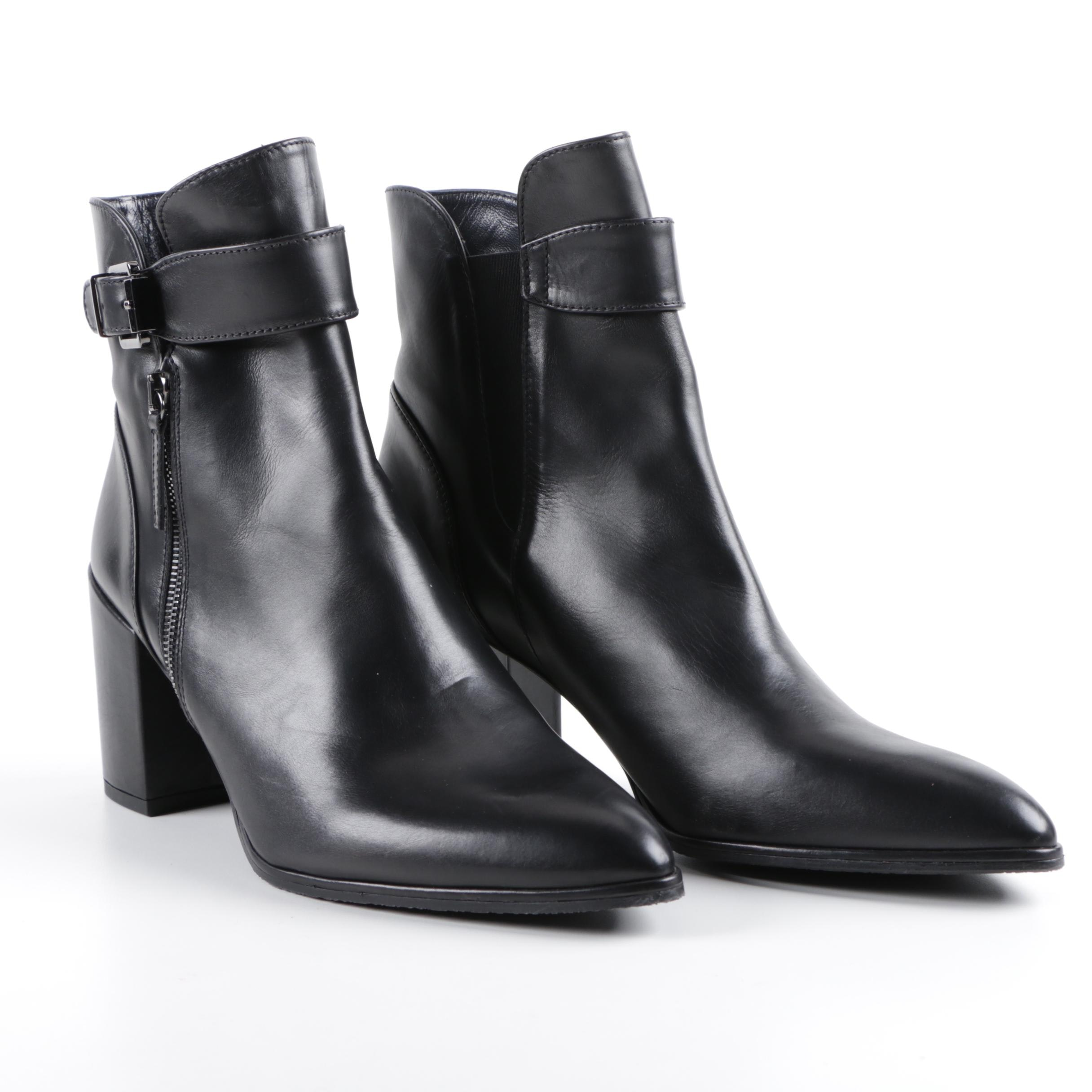 Women's Stuart Weitzman Black Leather Booties