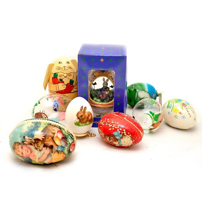 Decorative Eggs Including Christopher Radko and Goebel