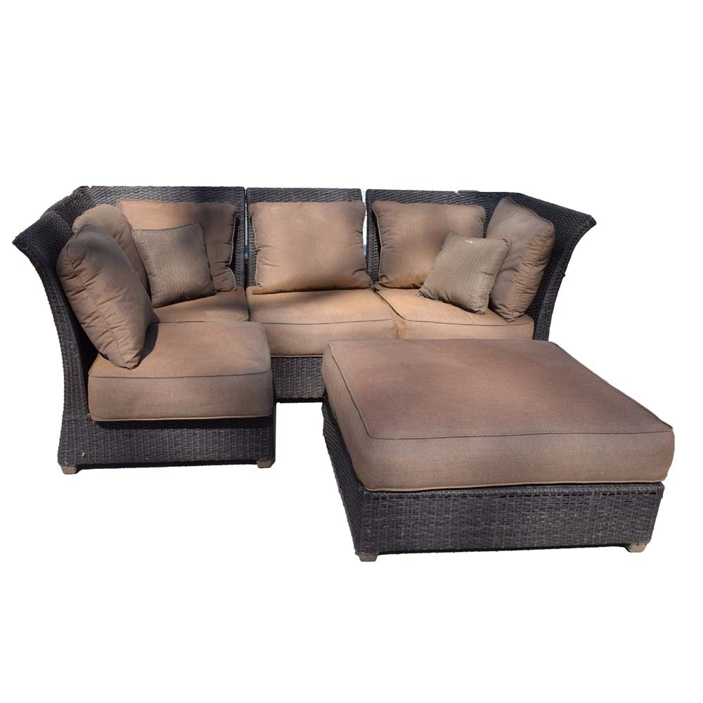 Sectional Outdoor Sofa and Ottoman