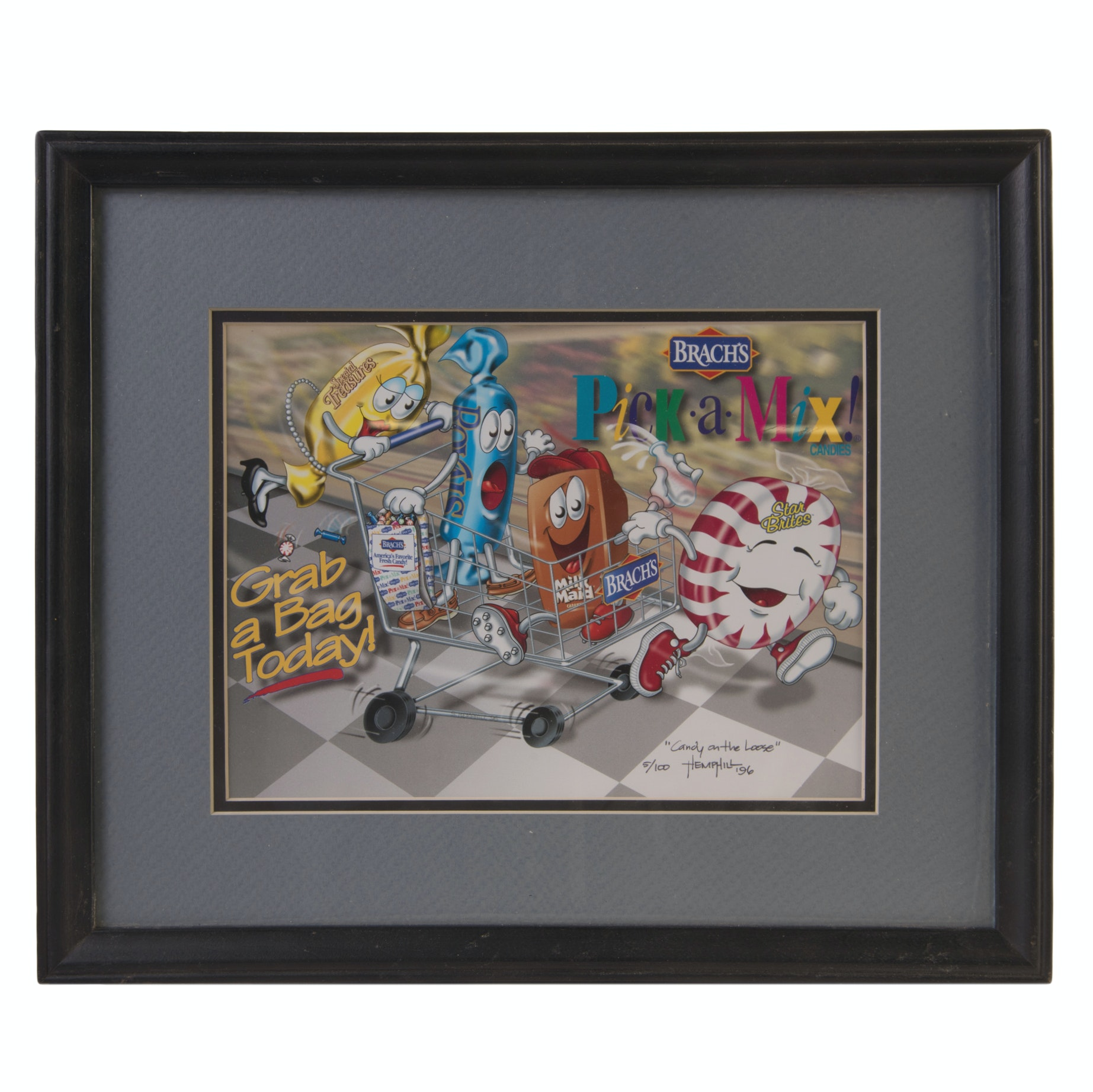 "After Hemphill Limited Edition Offset Lithograph ""Candy on the Loose"""