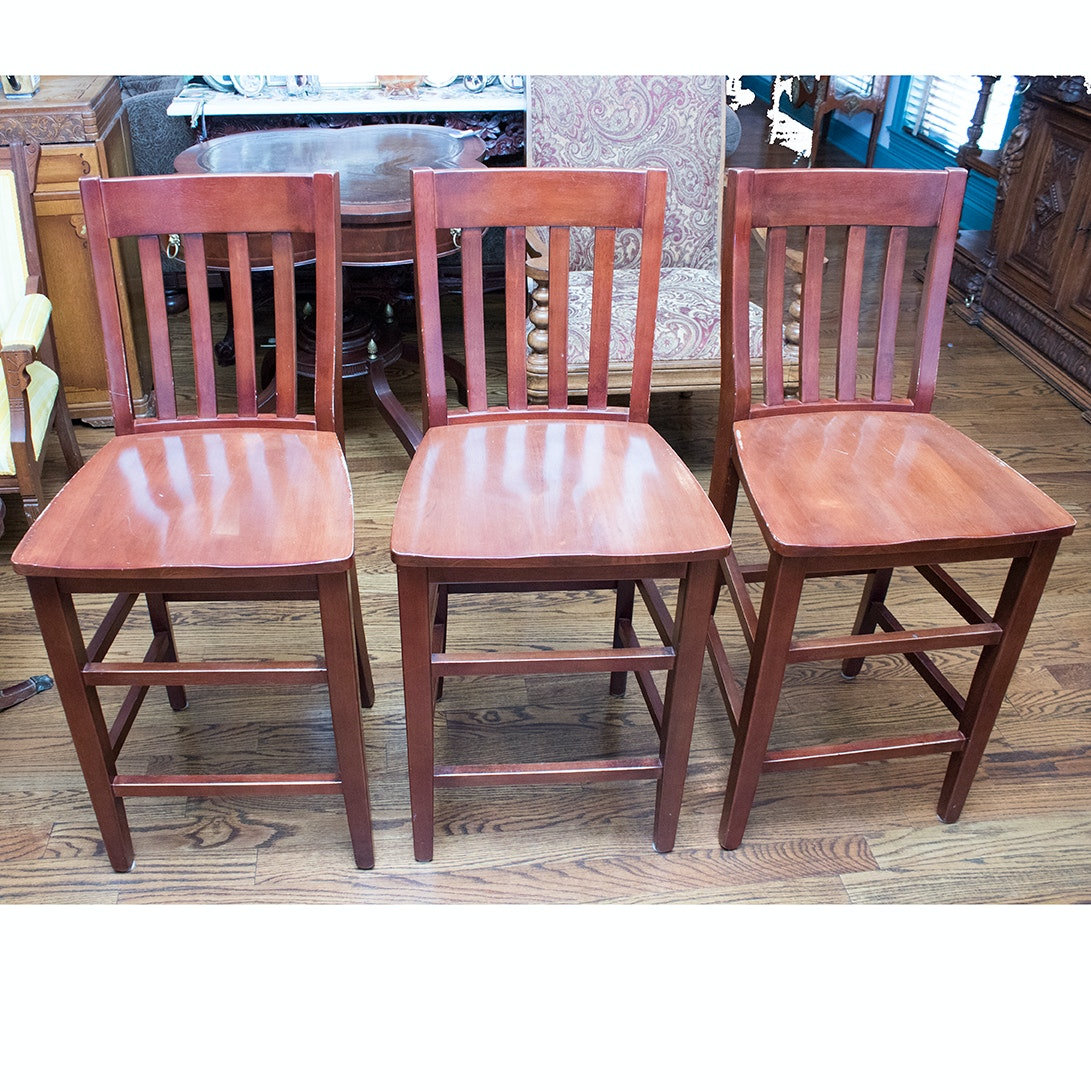 Three Wooden Pub Chairs by Apple