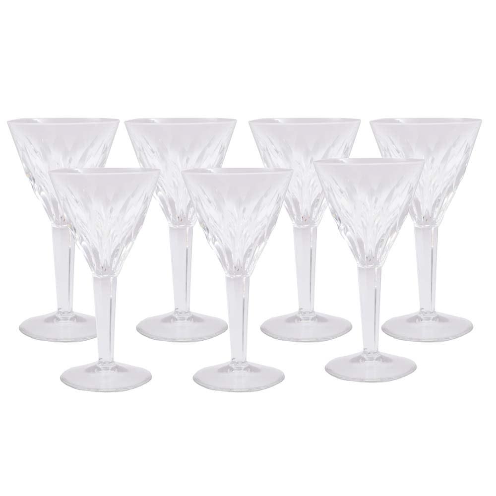 Cut Crystal White Glasses