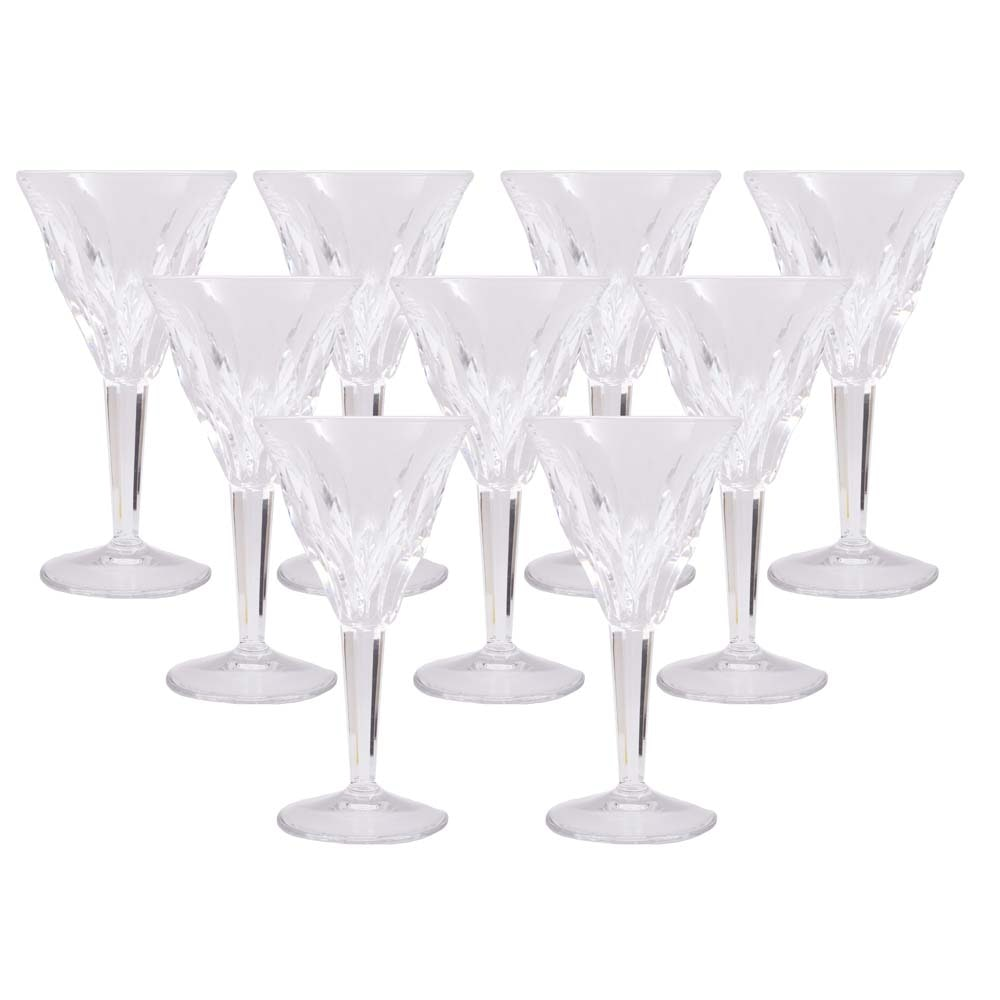 Cut Crystal Red Wine Glasses