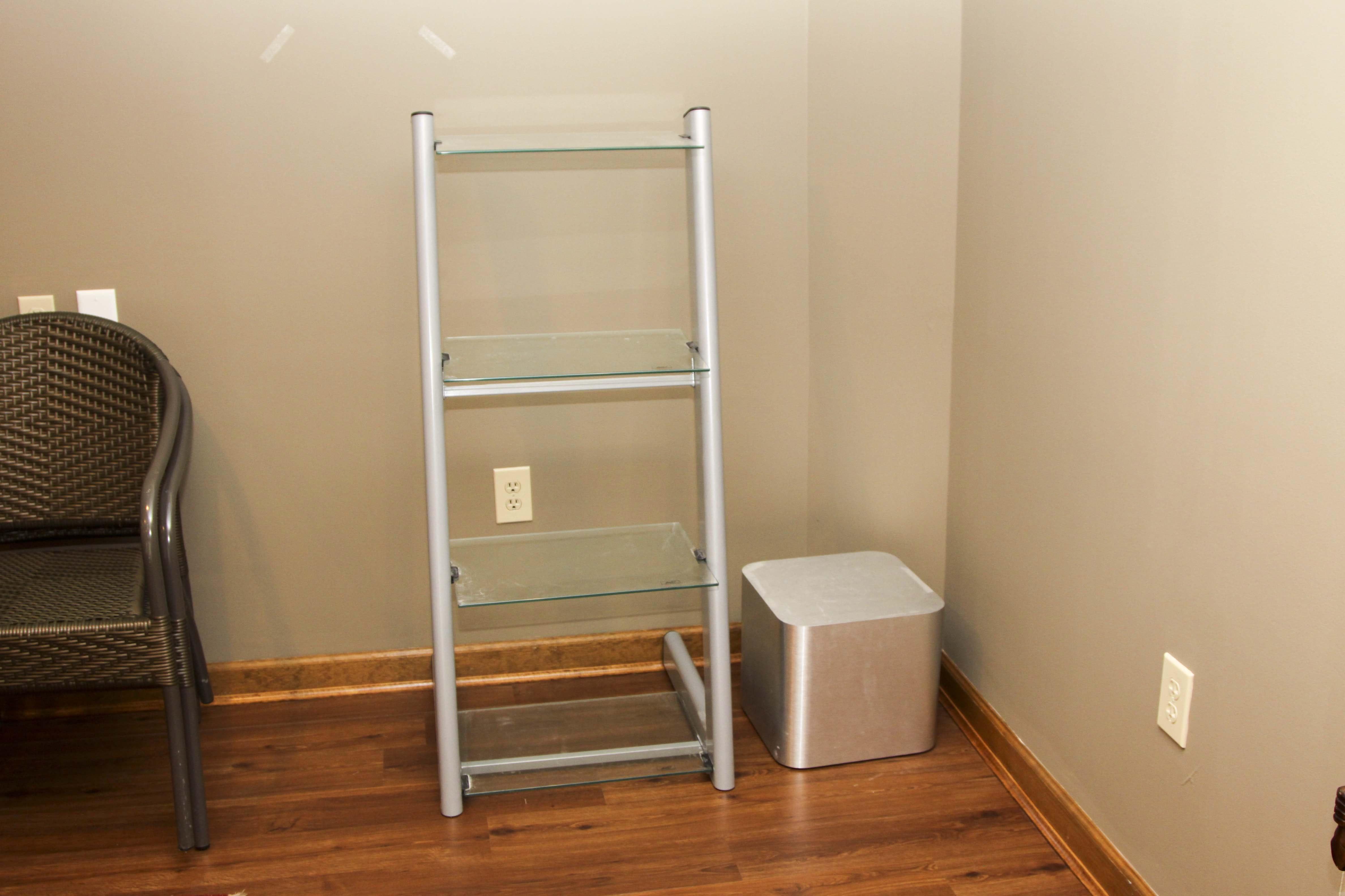 Contemporary Glass Shelf and Stand