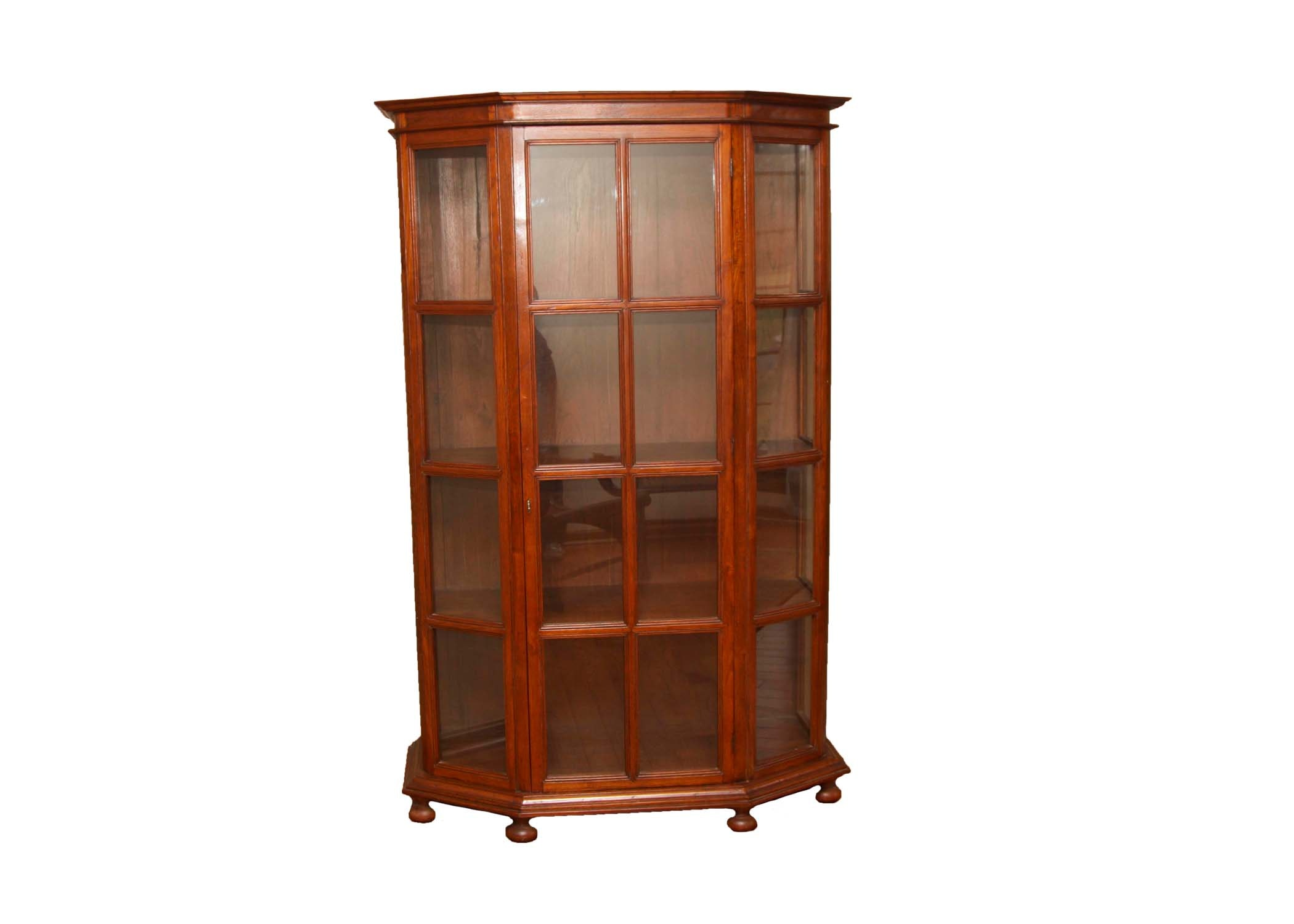 Mahogany Finished Curio Cabinet