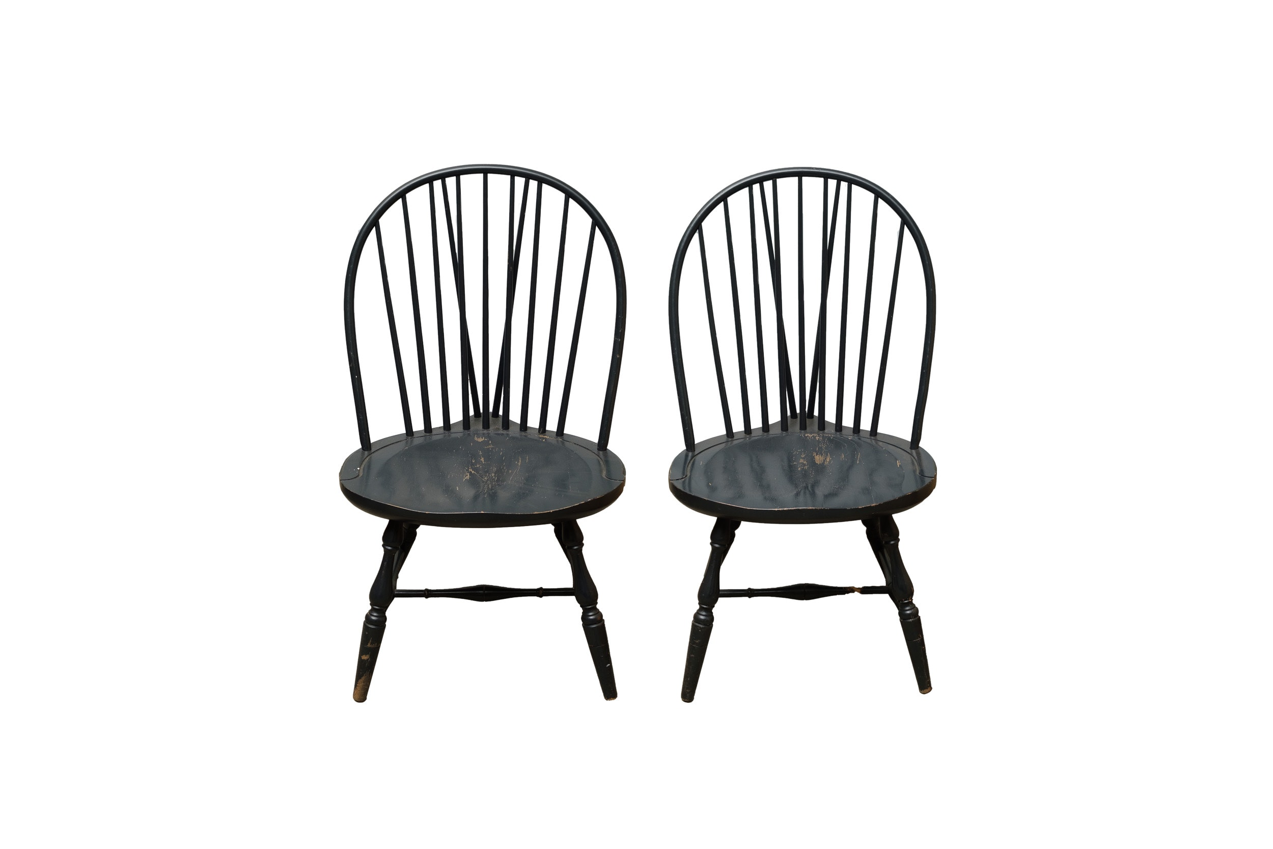 Pair of Brace-Back Windsor Side Chairs