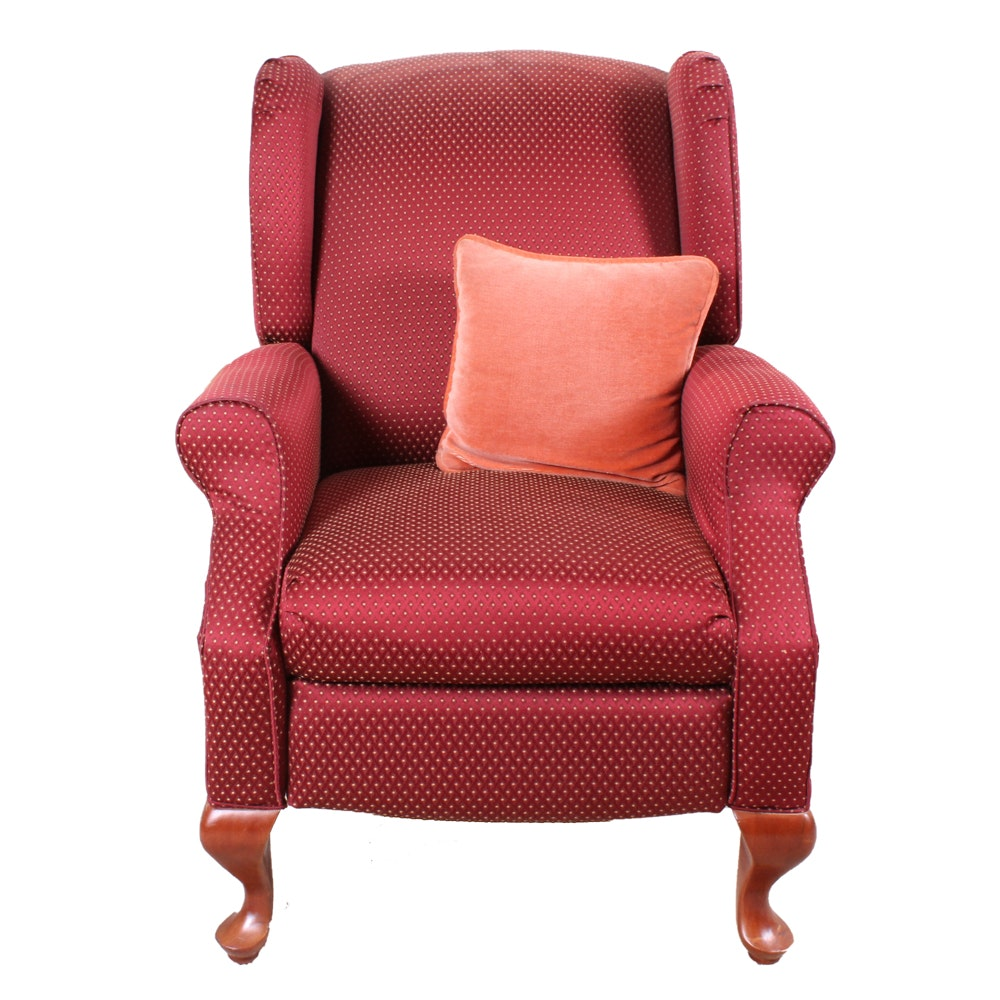 Contemporary Upholstered Wingback Recliner