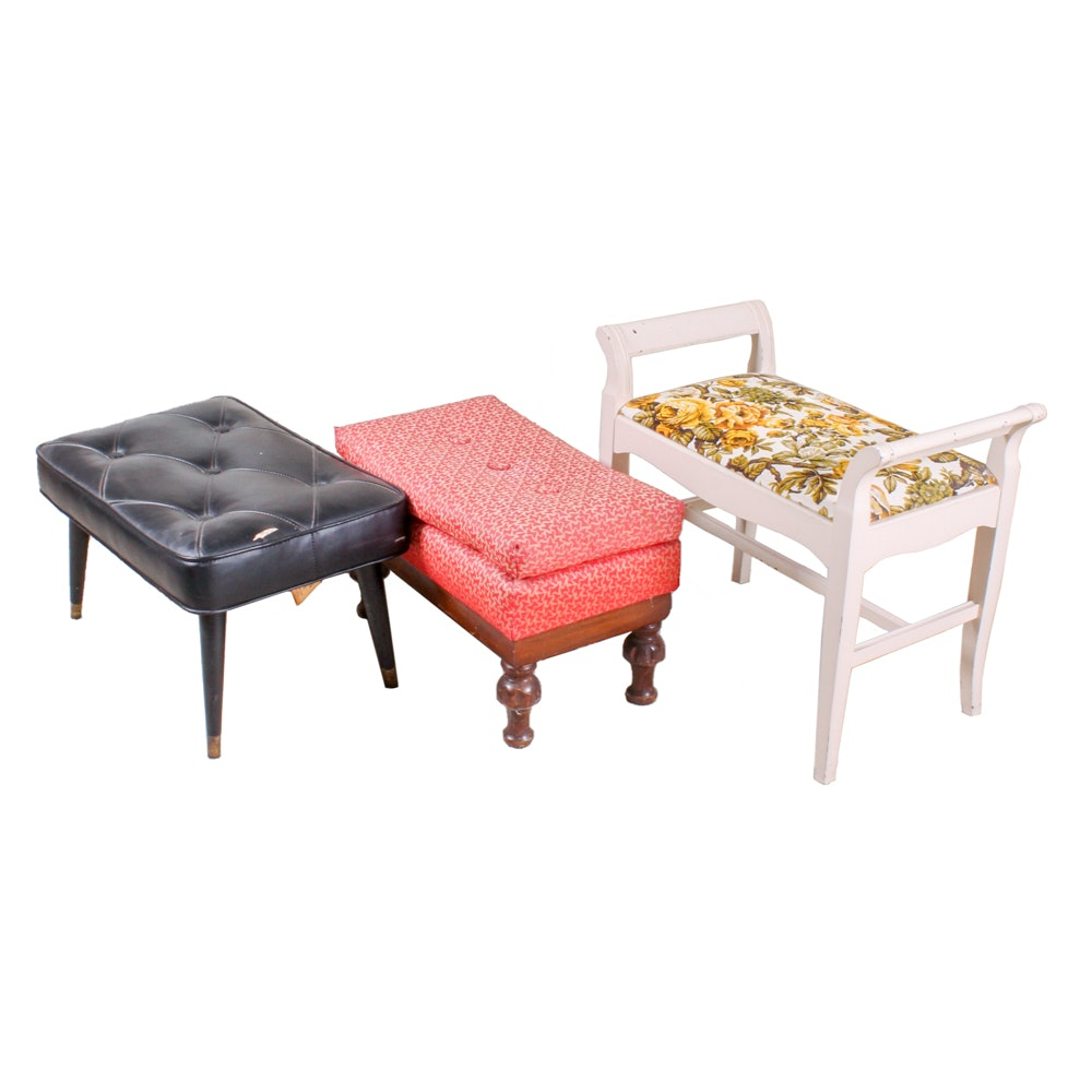 Three Vintage Footstools Including J.B. Van Sciver