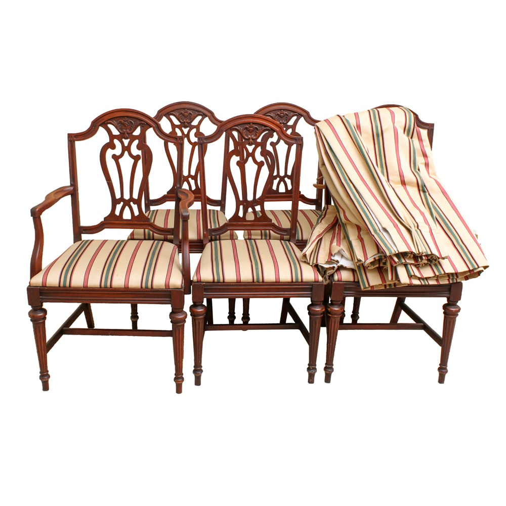 Set of Hepplewhite Style Dining Chairs
