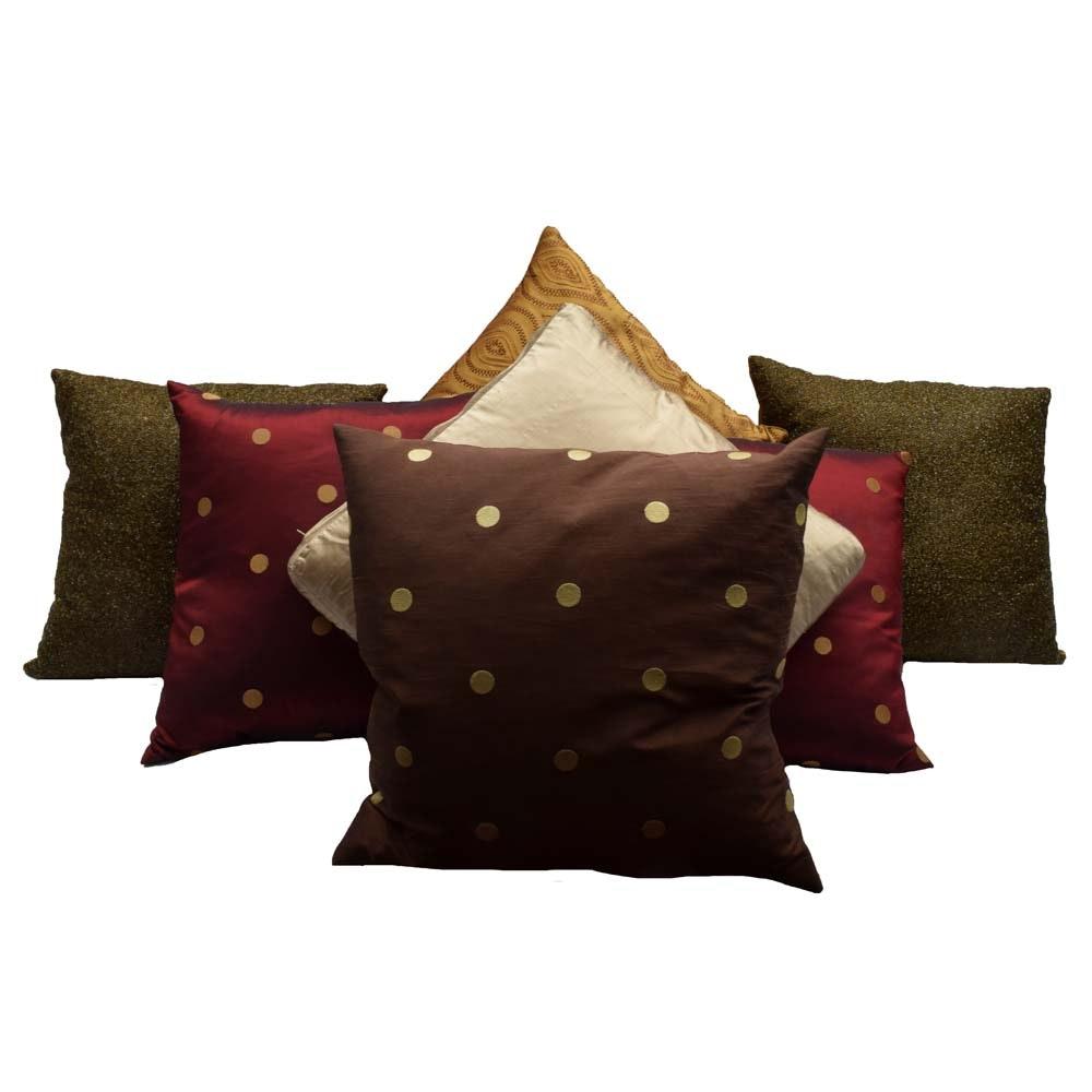 Collection of Seven Decorator Pillows