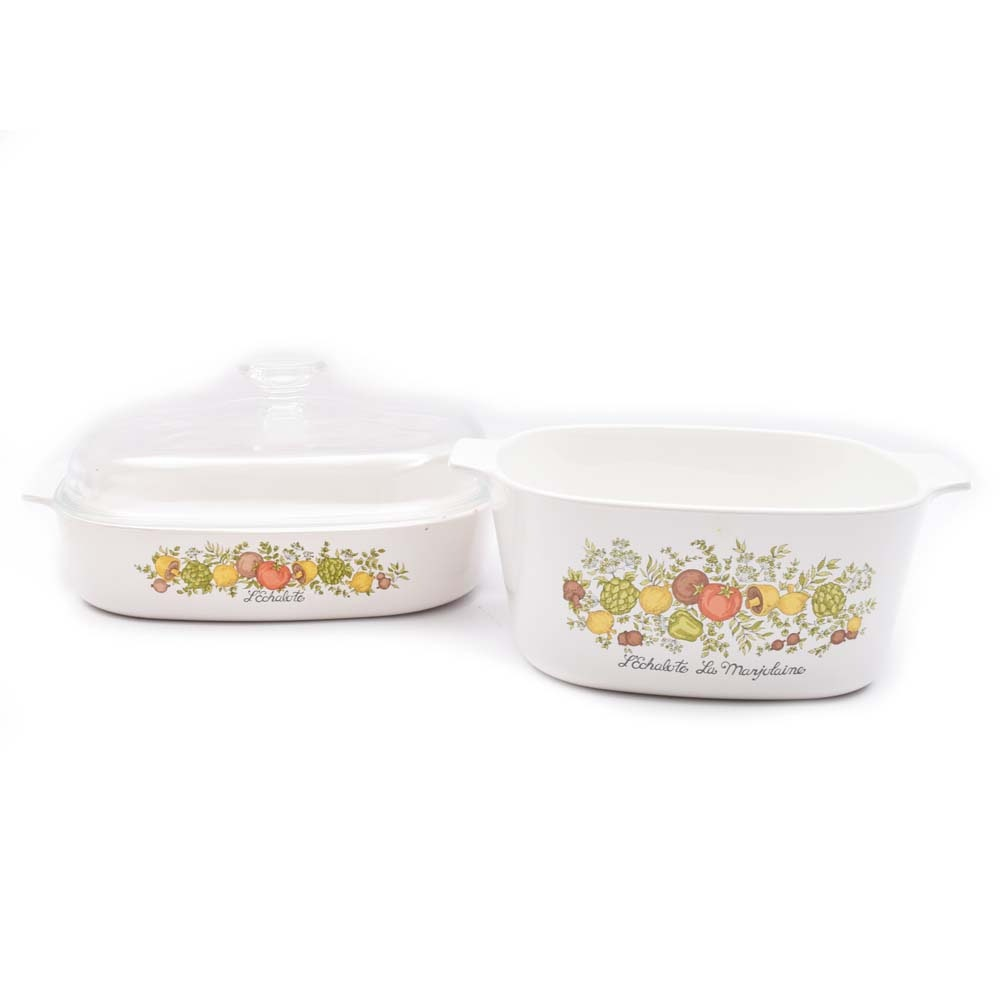 "Vintage Corning Ware ""Spice Of Life"" Casserole Dishes"