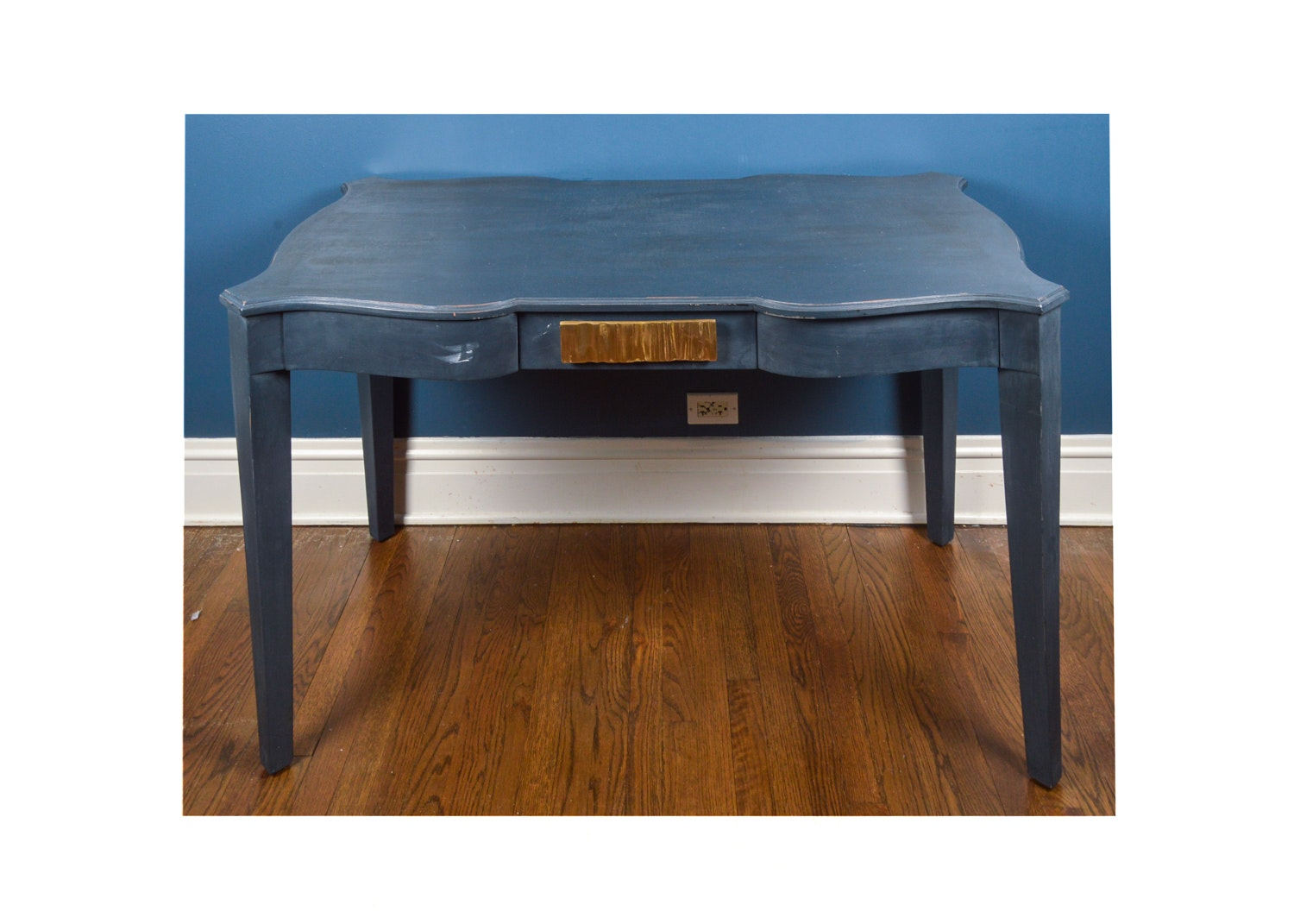 French Country Style Blue Painted Writing Desk