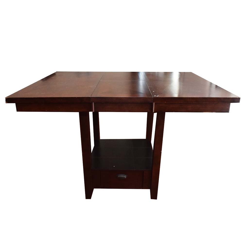 Contemporary Bar Height Dining Table