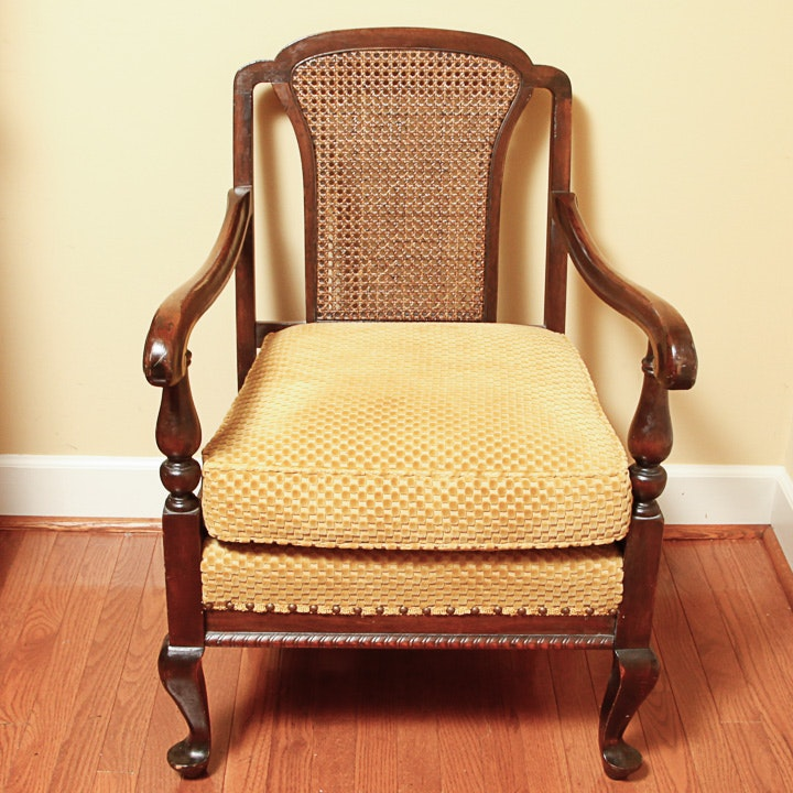 1920s Queen Anne Style Lounge Chair