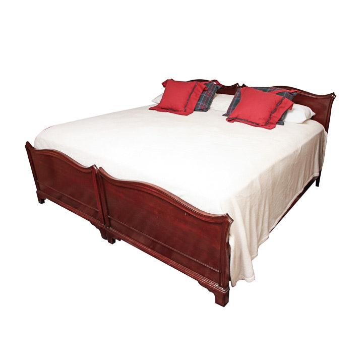 Vintage Mahogany King Size Bed Frame