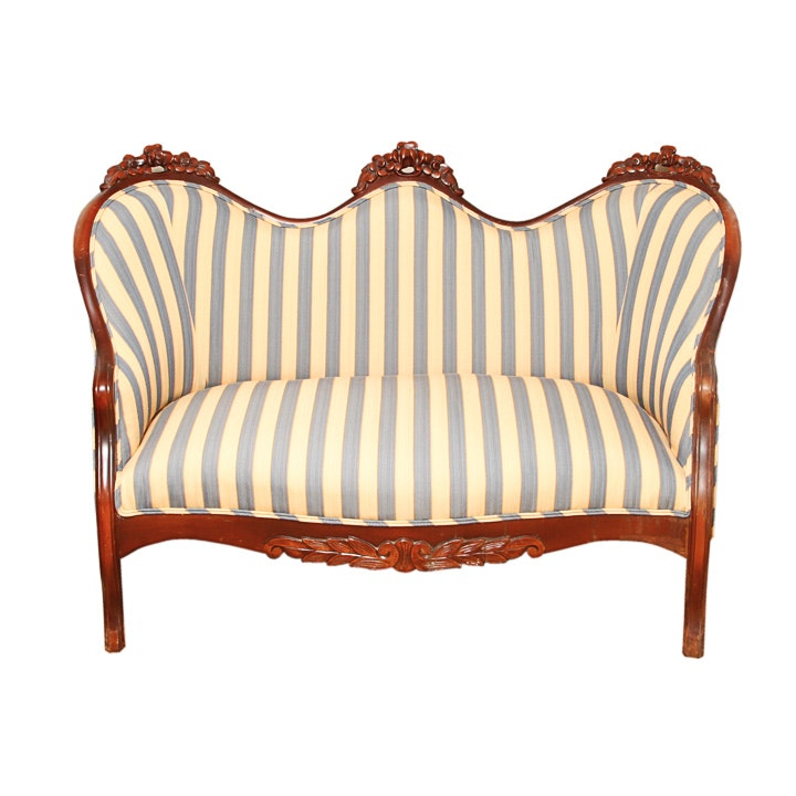 Victorian Carved Settee
