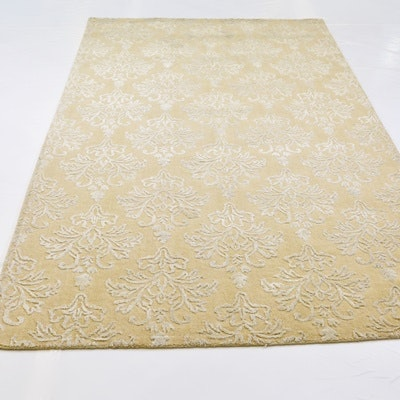 Hand Loomed Wool and Viscose Area Rug