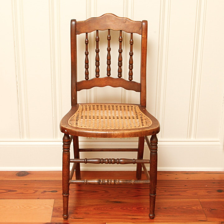 Vintage Cane Seat Side Chair
