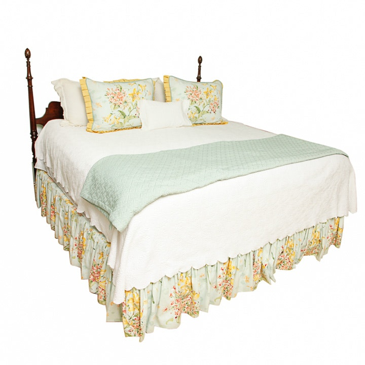 Traditional King-Size Headboard and Bed Frame