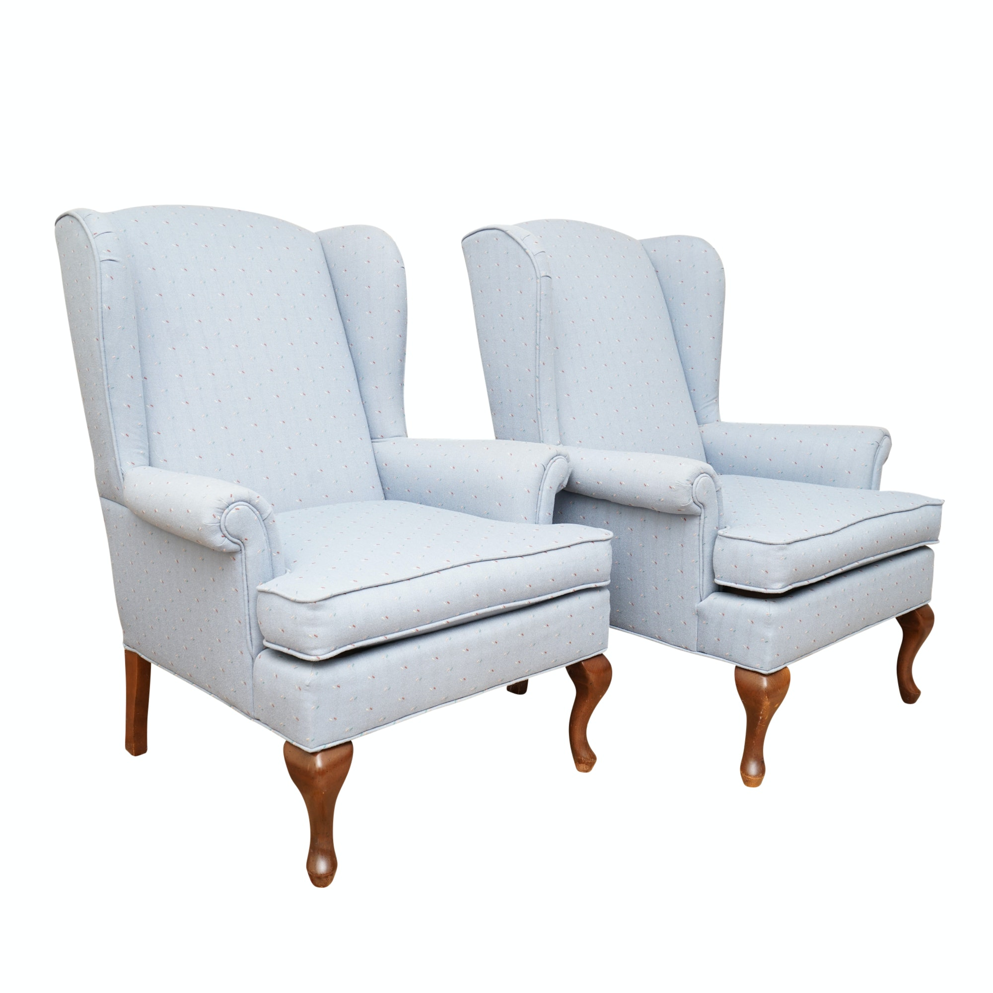 Upholstered Wingback Chairs by Norwalk