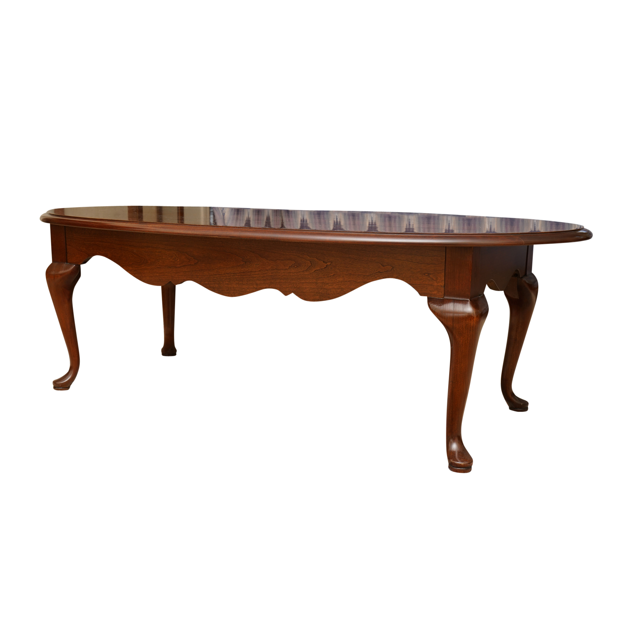 cherry coffee table. Queen Anne Style Cherry Coffee Table By Thomasville