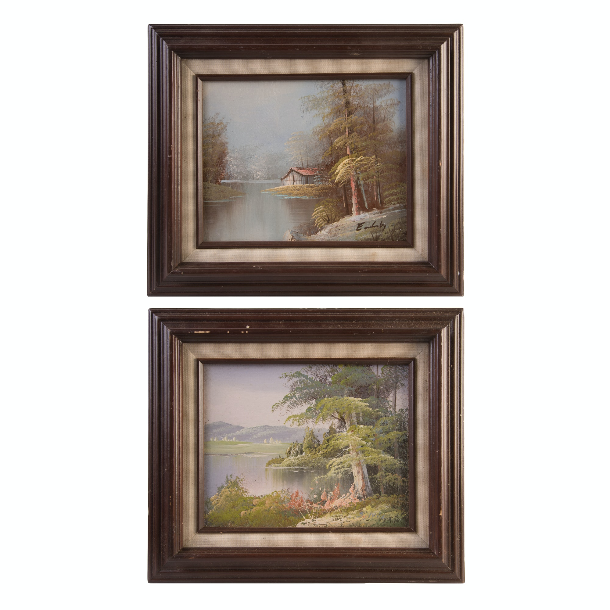 Original Signed Acrylic on Canvas Landscape Paintings