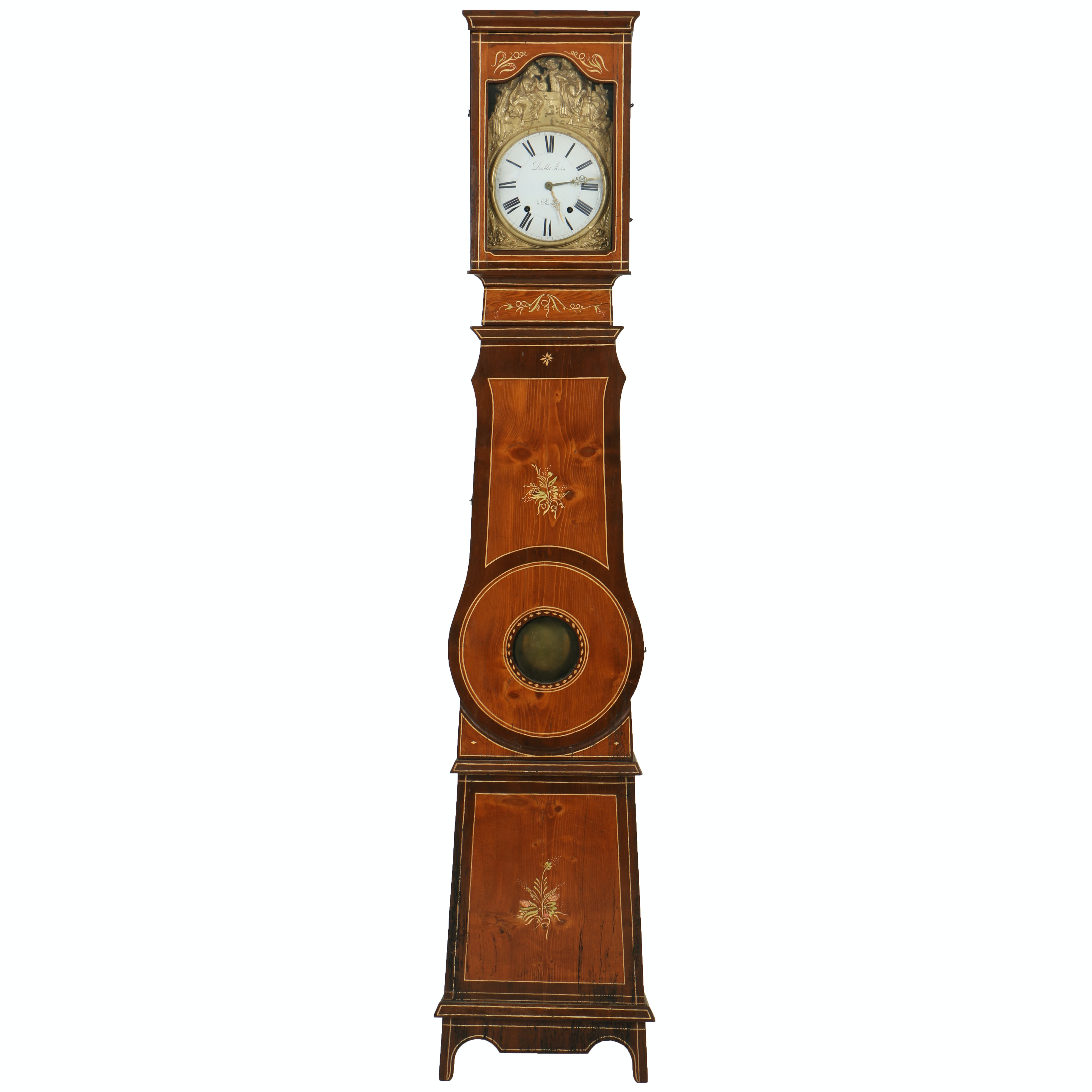 19th-Century Country French Morbier Case Clock