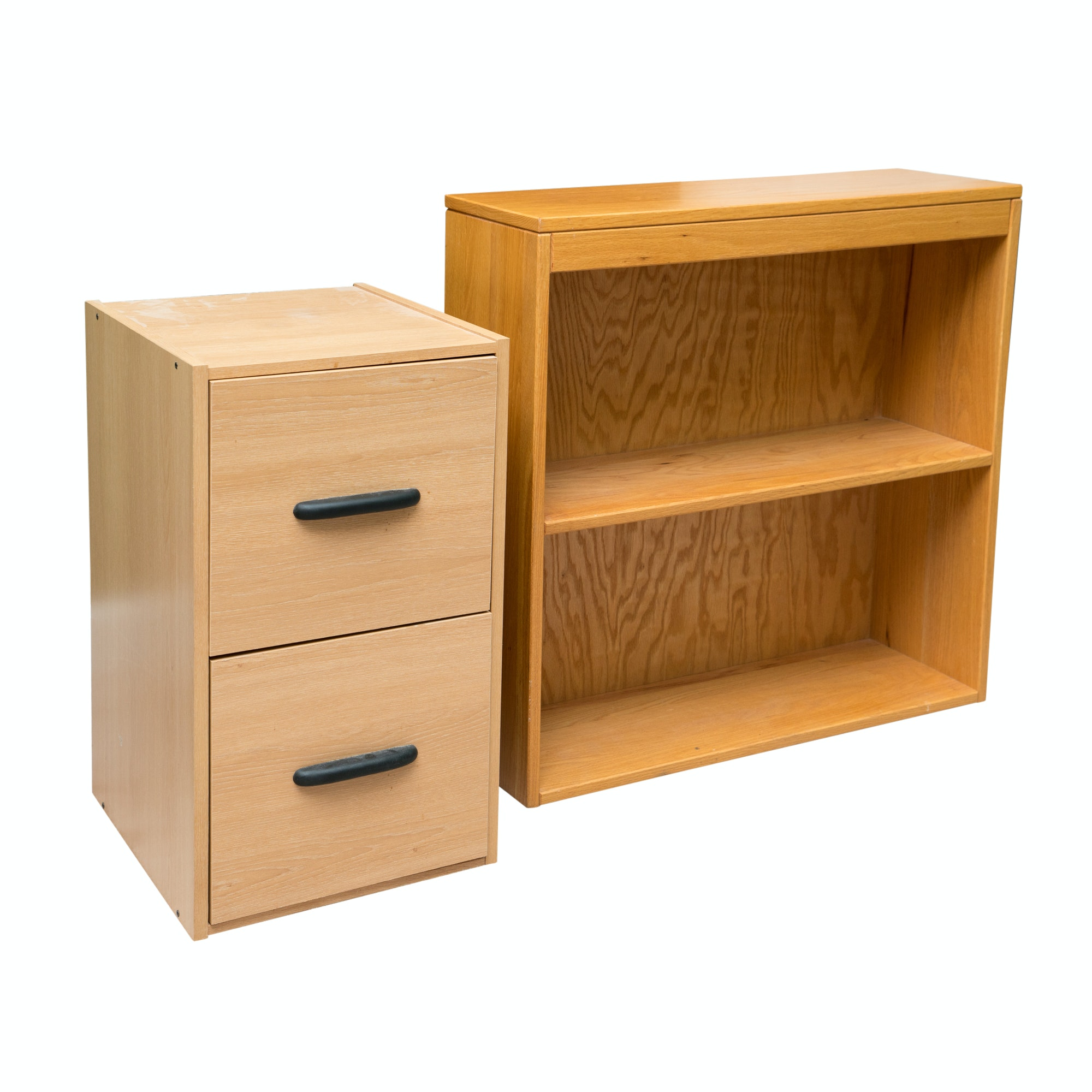 Marvelous Oak Bookcase By Adden Furniture With Two Drawer File Cabinet ...