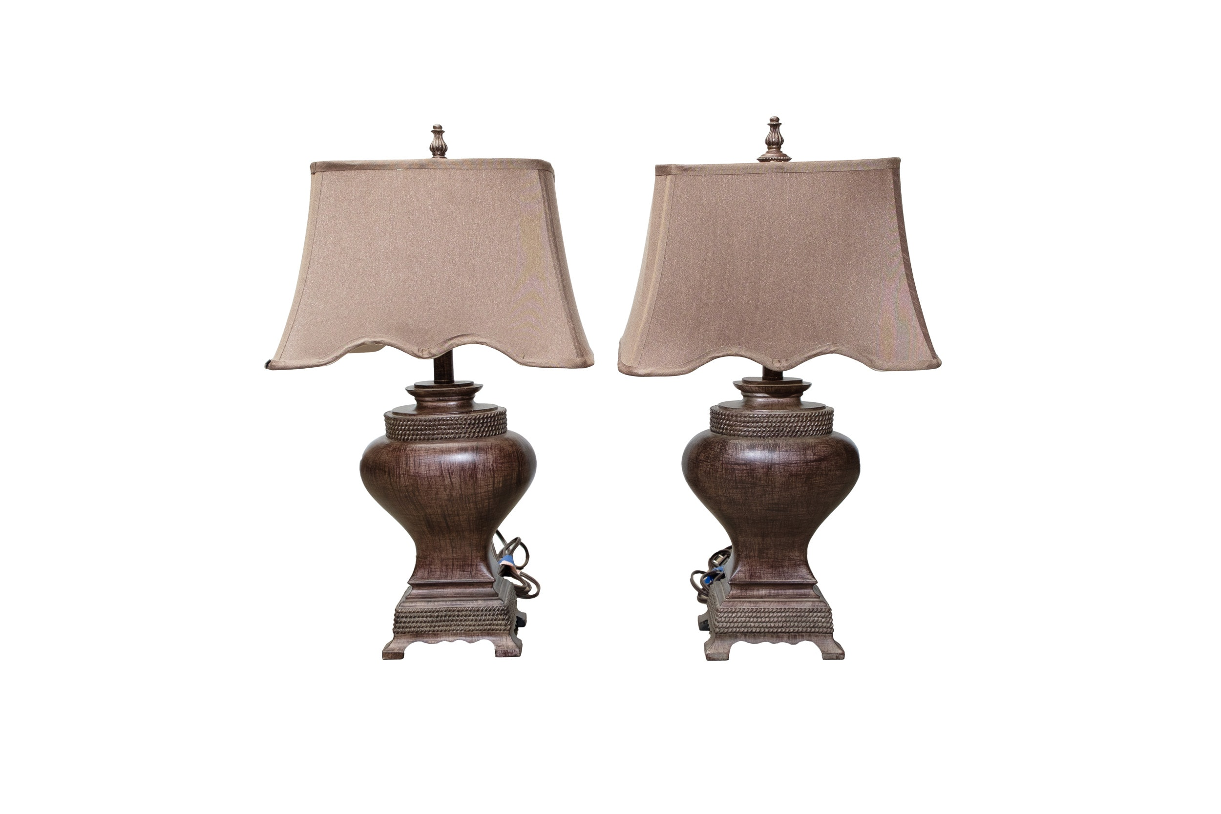 Pair of Ceramic Urn Table Lamps