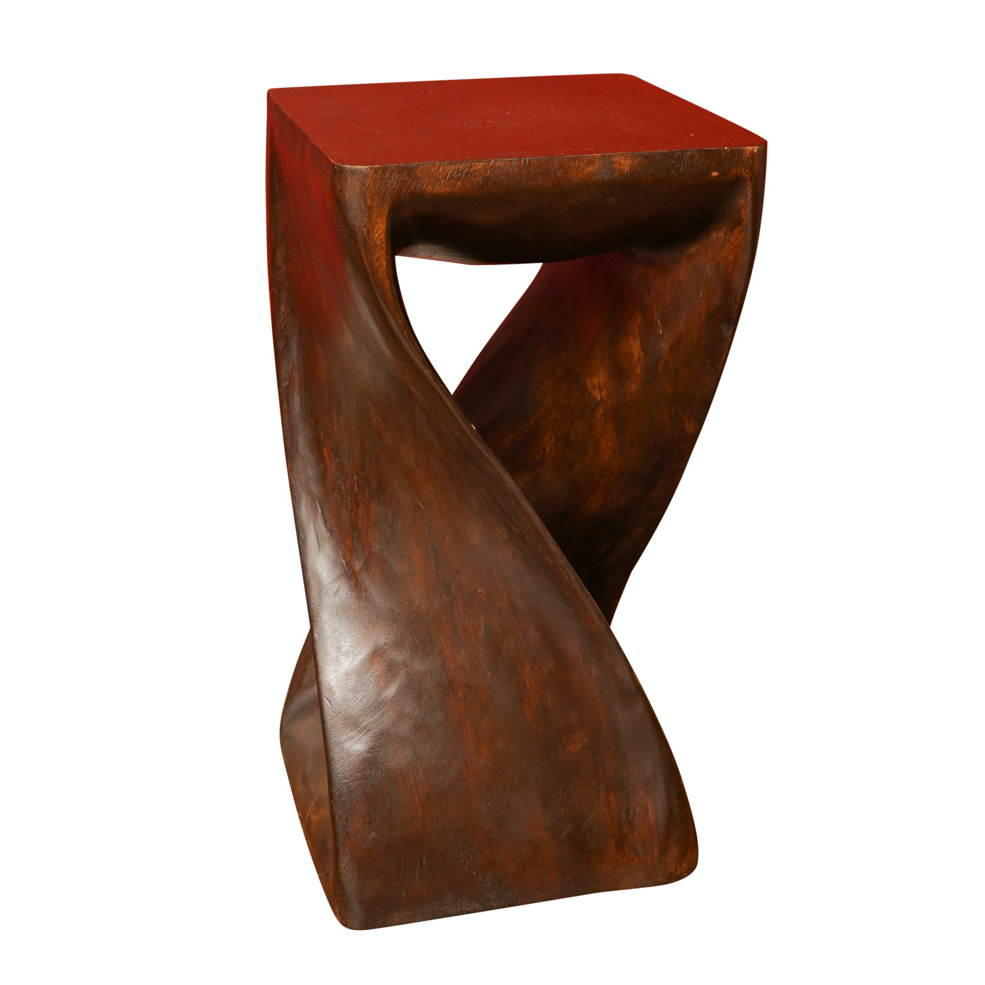 Modern Style Carved Wood Side Table