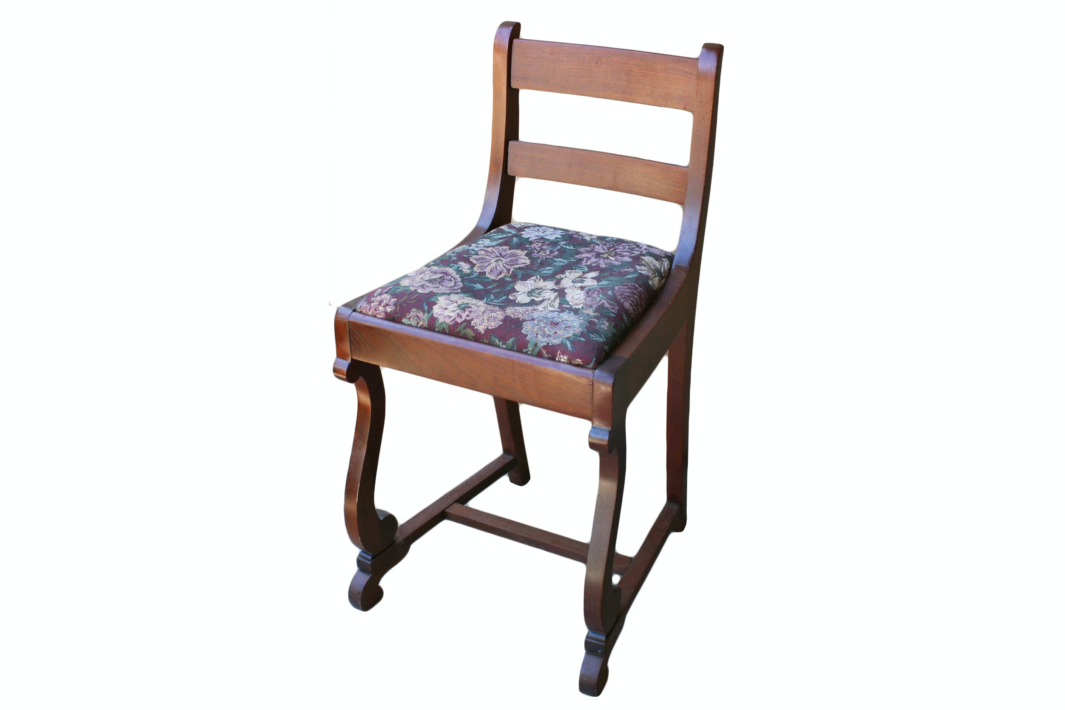 Vintage Empire Style Mahogany Side Chair