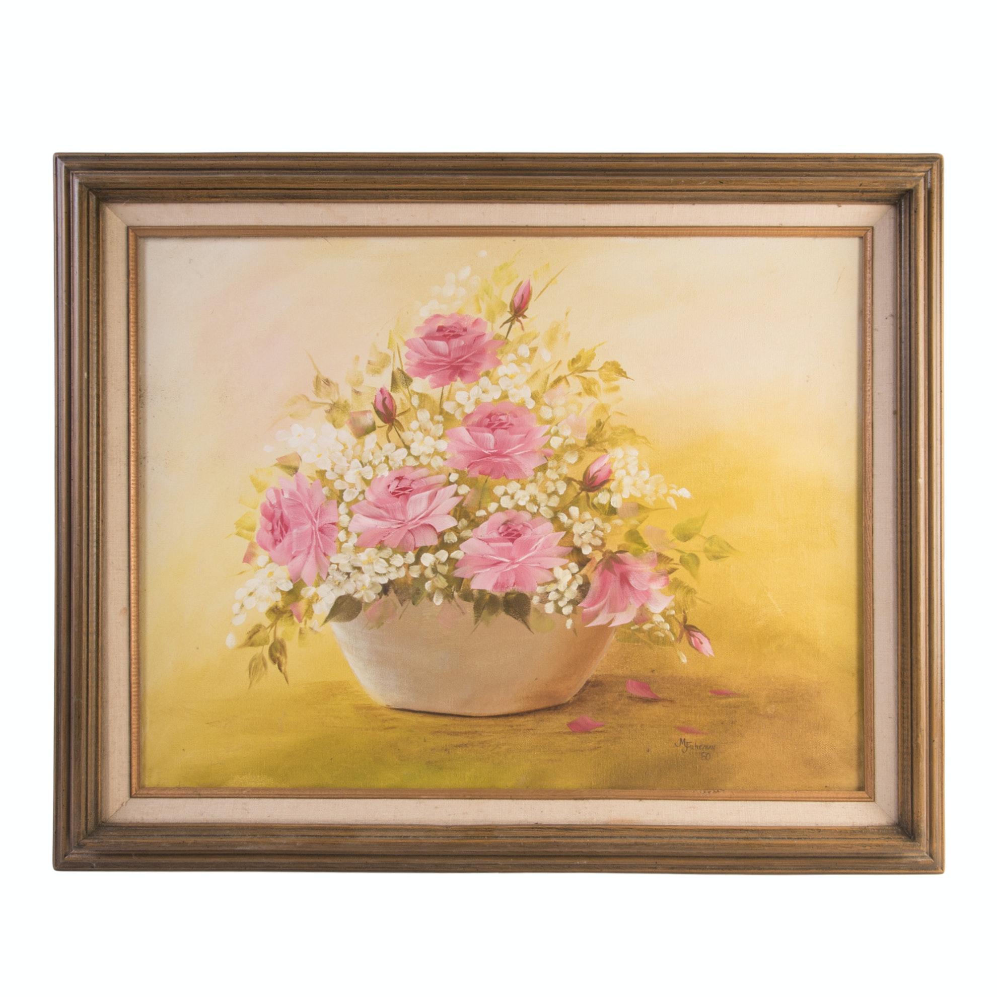 M. Fuhrman Acrylic Painting on Canvas