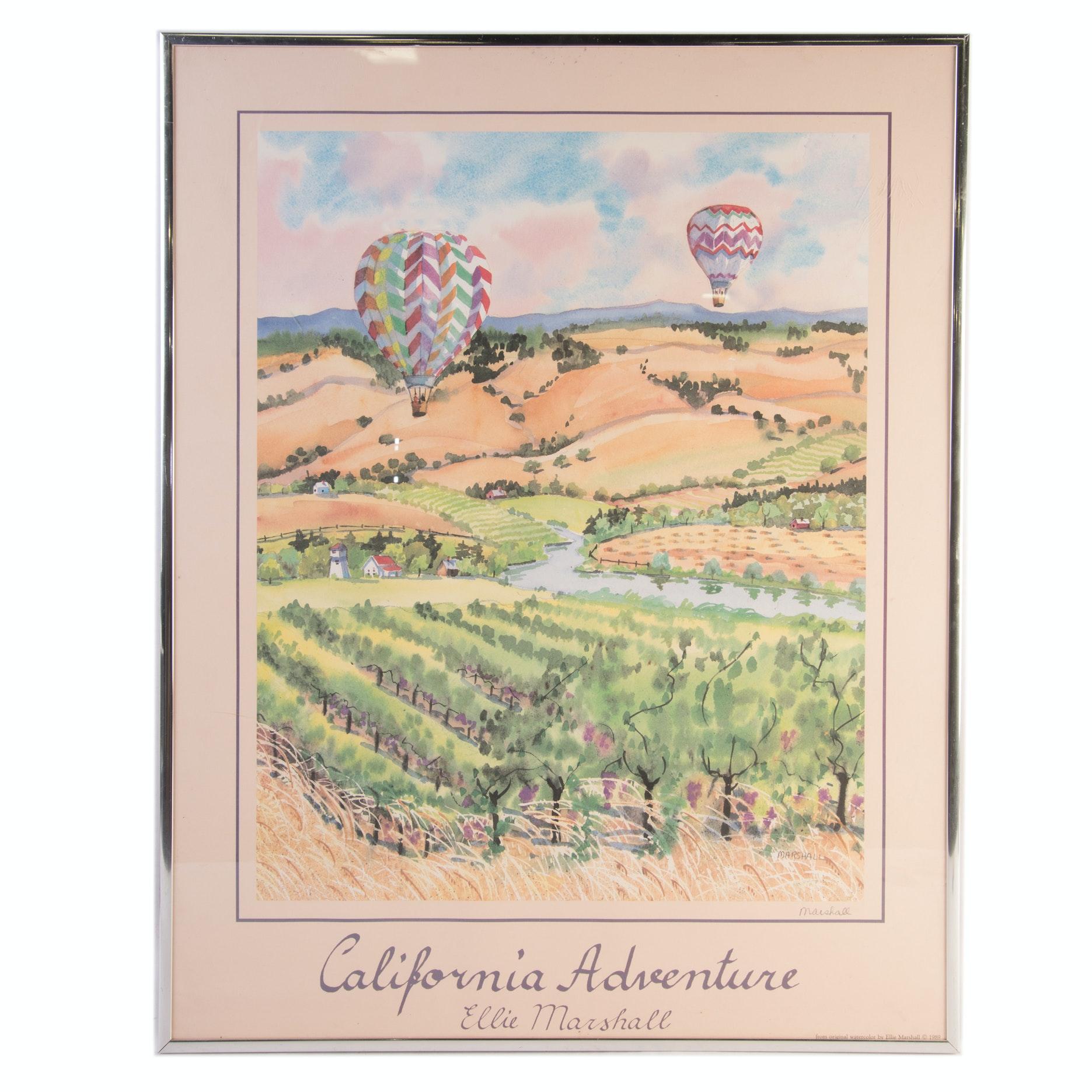 "Ellie Marshall Signed Offset Poster ""California Adventure"""