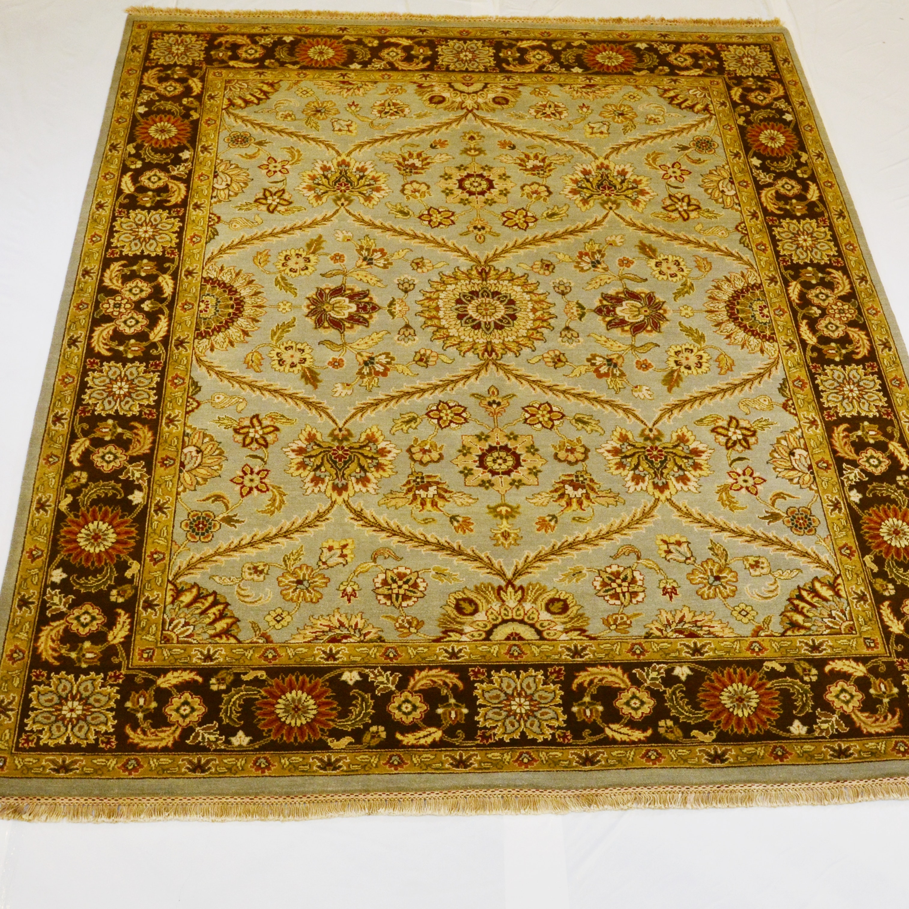 Hand-Knotted Classic Persian Design Wool Area Rug
