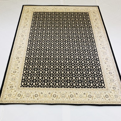 Machine-Woven Transitional Synthetic Area Rug