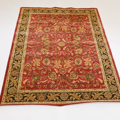 Machine-Woven Traditional Synthetic Area Rug