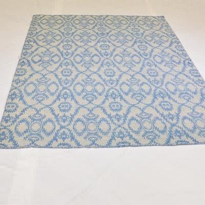 Hand Loomed Jacquard Wool Reversible Area Rug