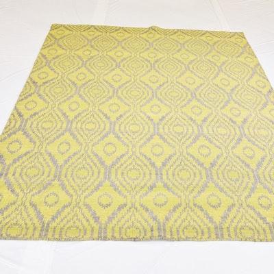 Hand Loomed Jacquard Reversible Wool Area Rug