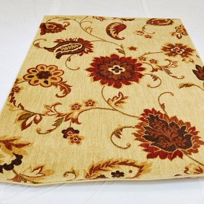 Machine-Woven Transitional Style Synthetic Area Rug