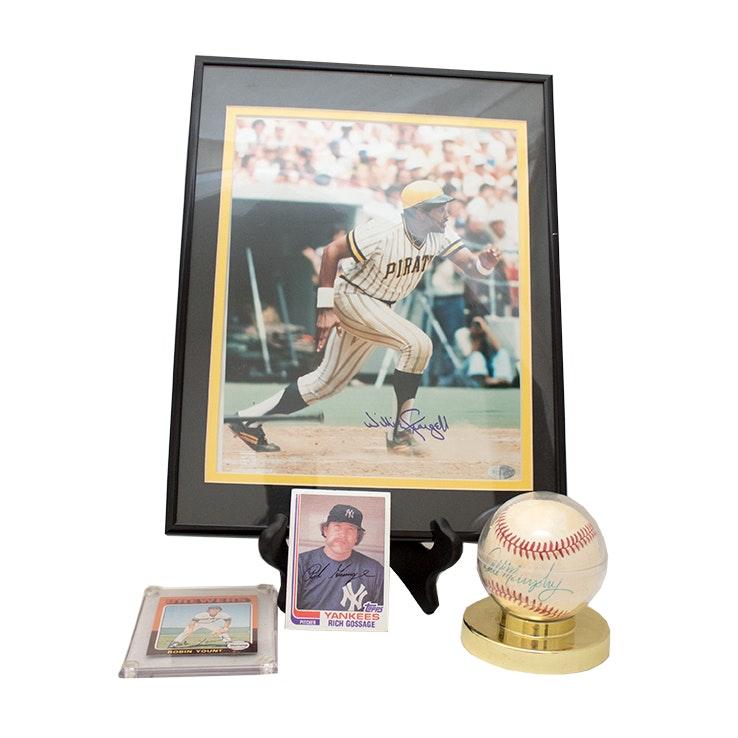 Autographed Baseball Memorabilia and Vintage Baseball Cards