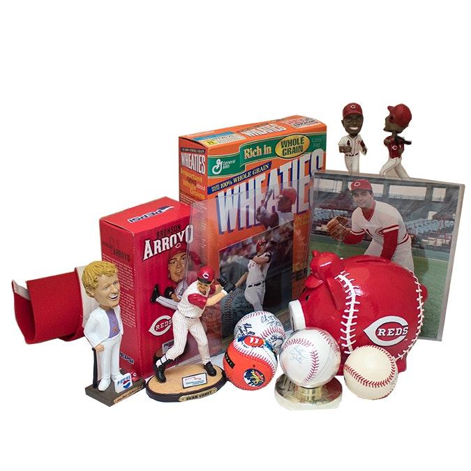 Cincinnati Reds Sports Memoriblia and Autographed Baseball