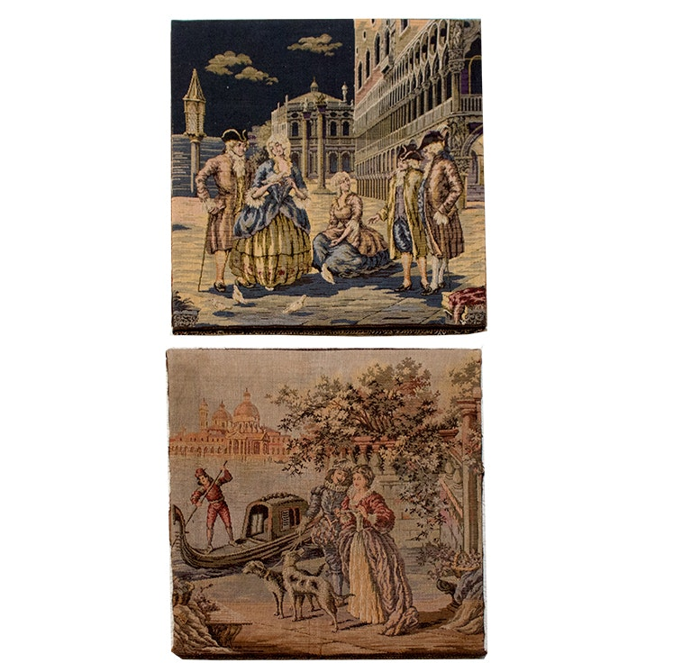 Vintage Woven European Wall Tapestries