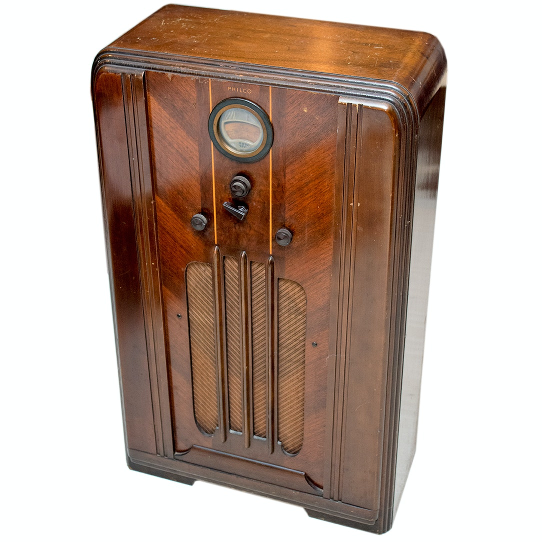 Philco Art Deco Tube Radio Cabinet