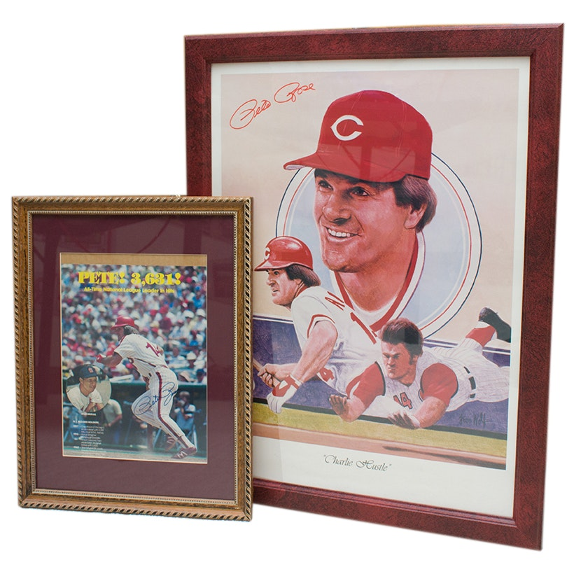 Pete Rose Autographed Posters