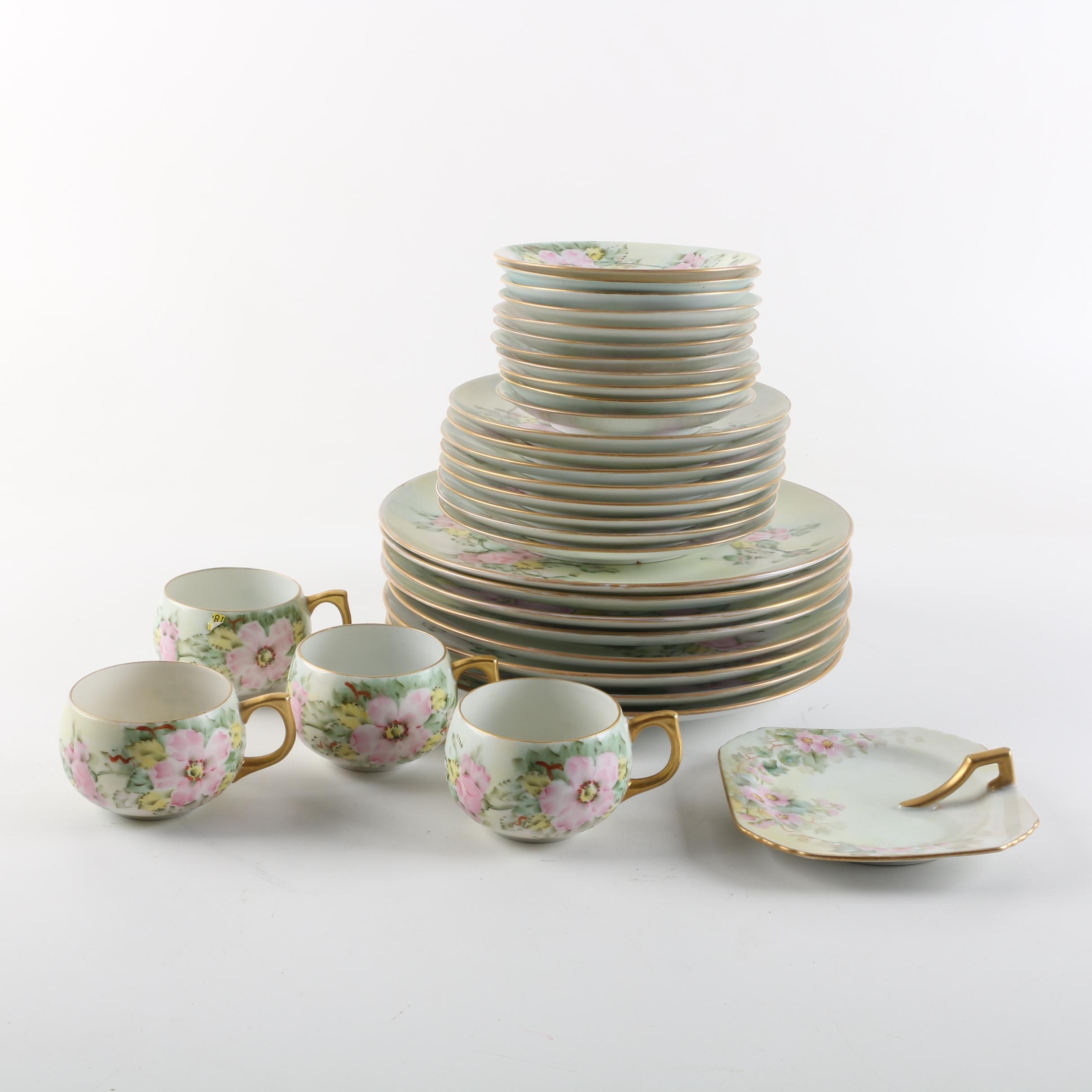 Antique Hand Painted Porcelain Tableware