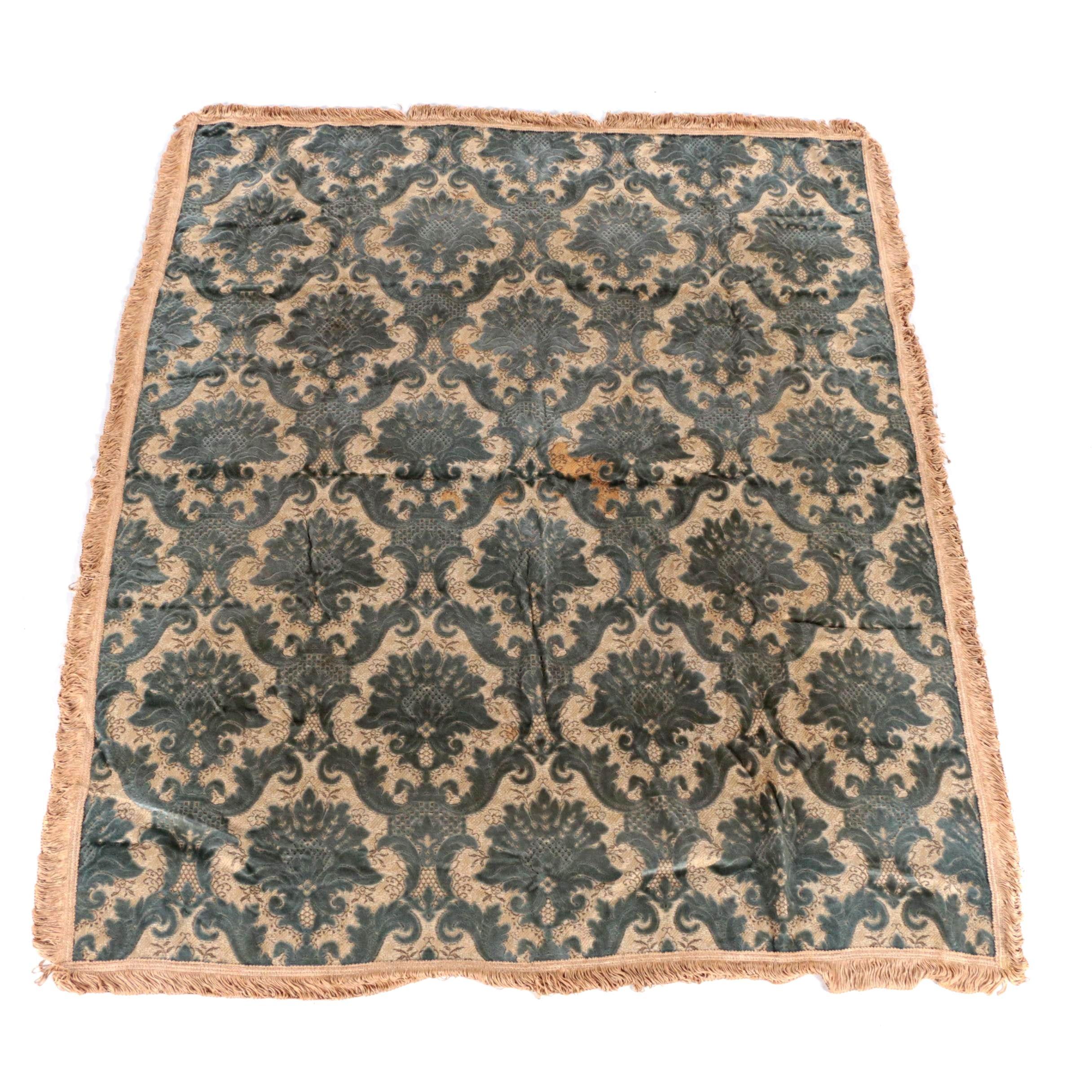 Vintage Italian-Style Velvet Tapestry