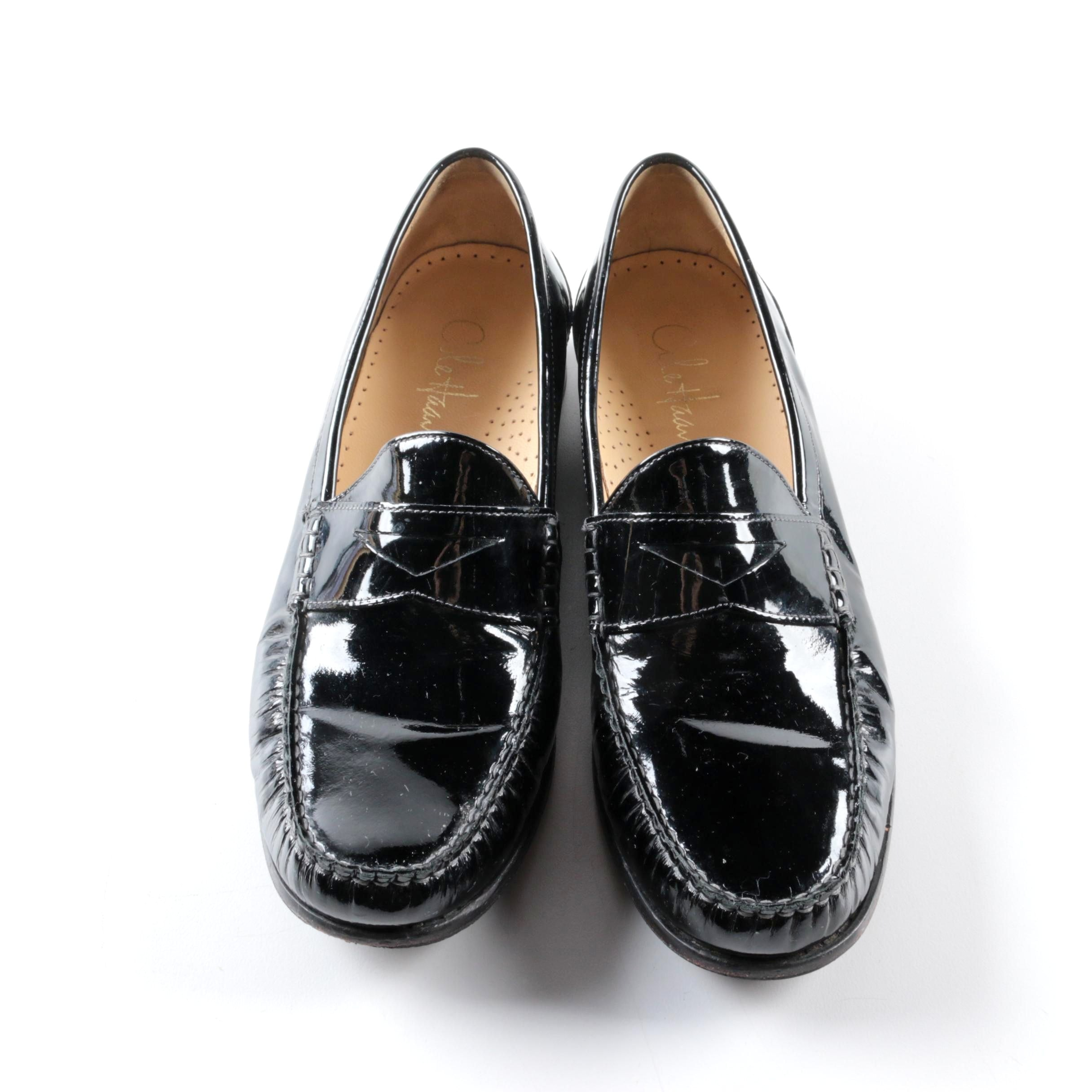 Women's Cole Haan Black Patent Leather Loafers