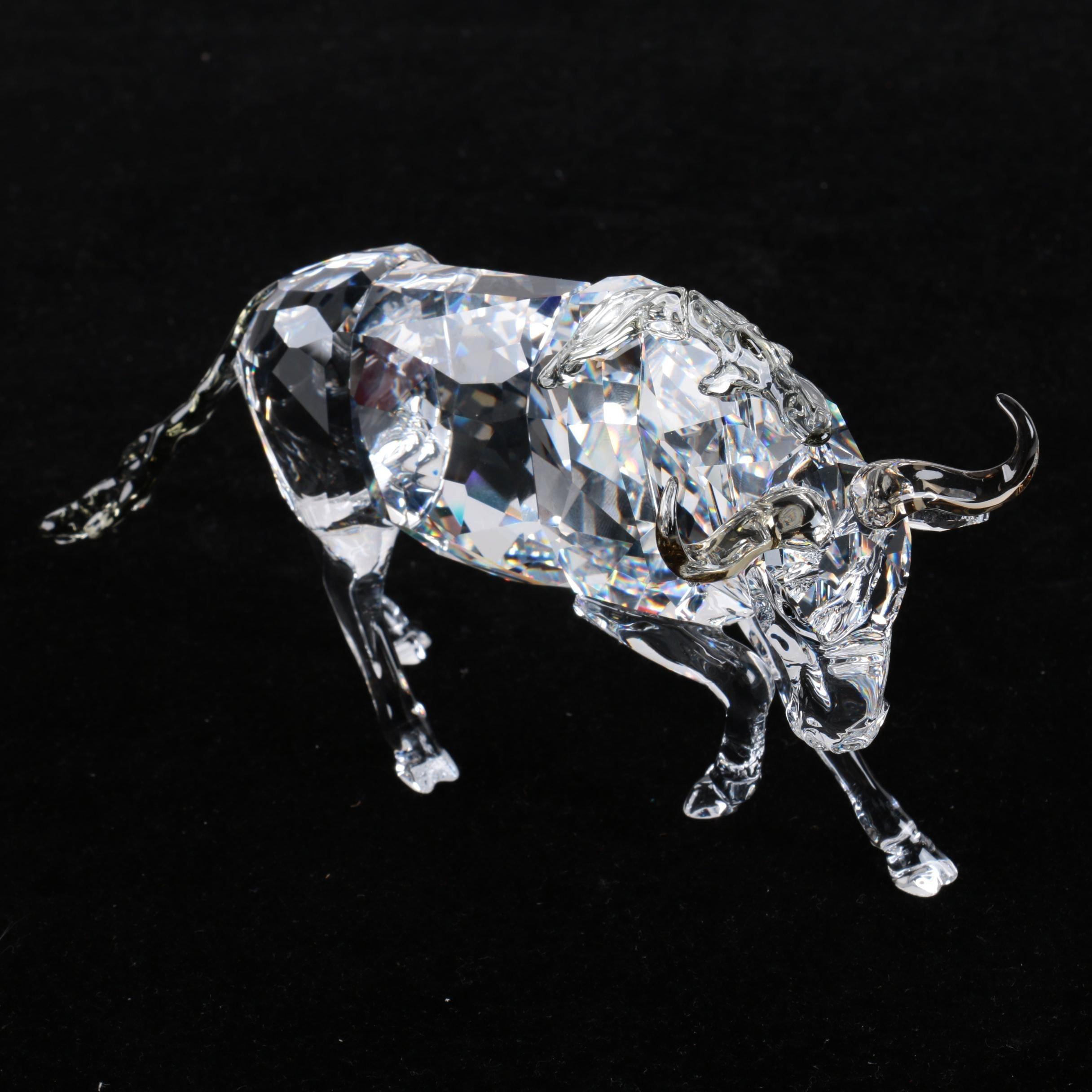 Swarovski Gnu Wildebeest Crystal Figurine with Box