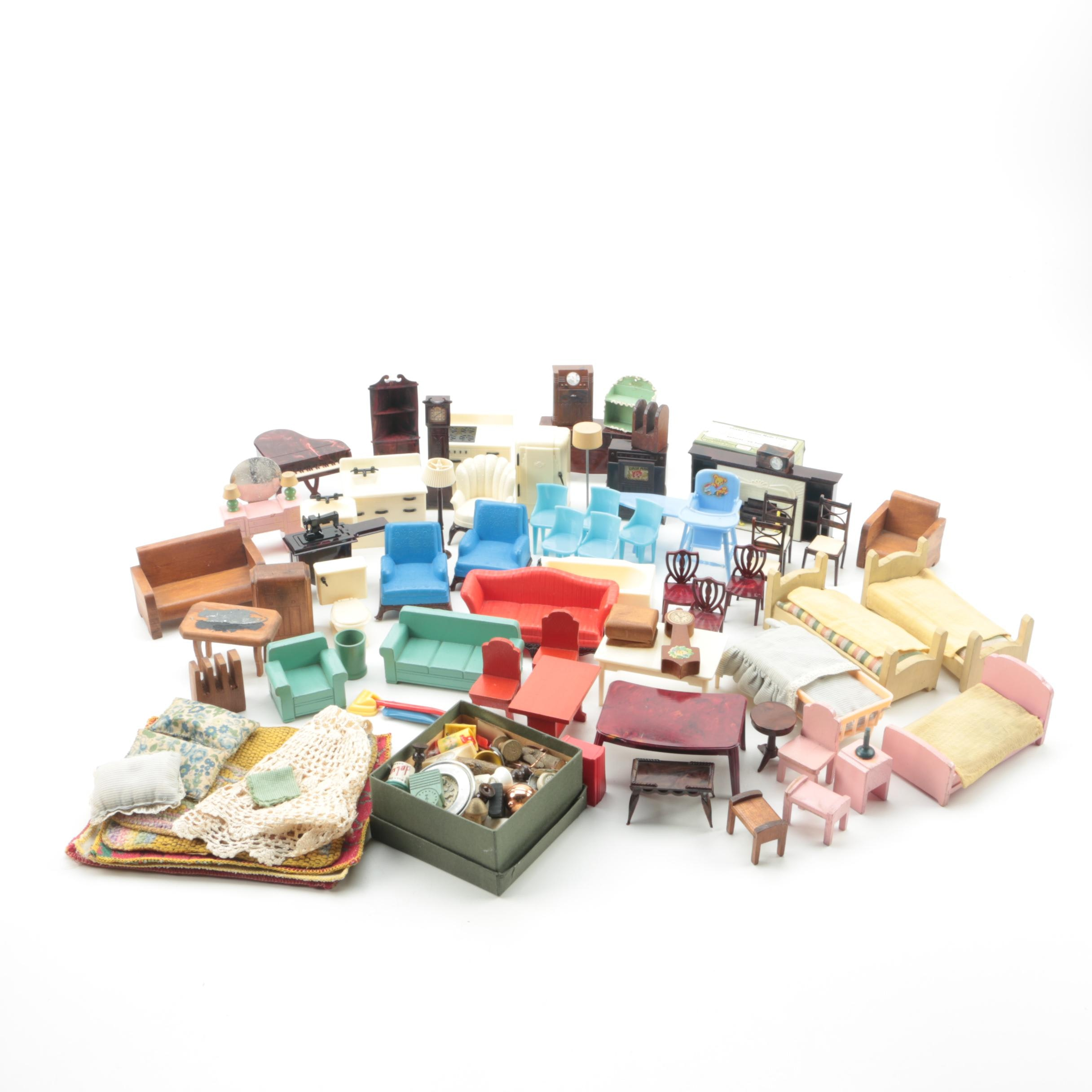 Vintage Dollhouse Furniture and Accessories