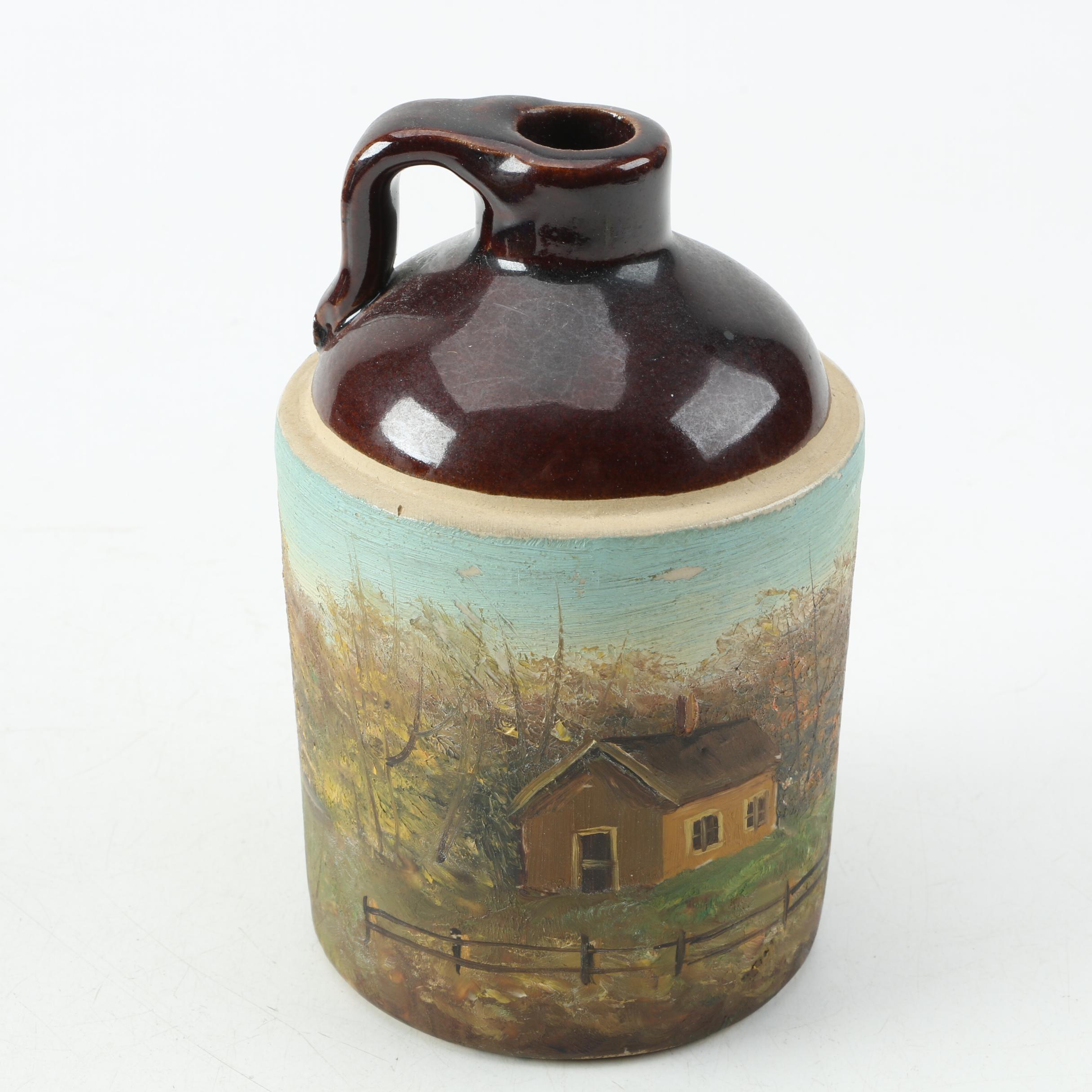 Painted Stoneware Jug